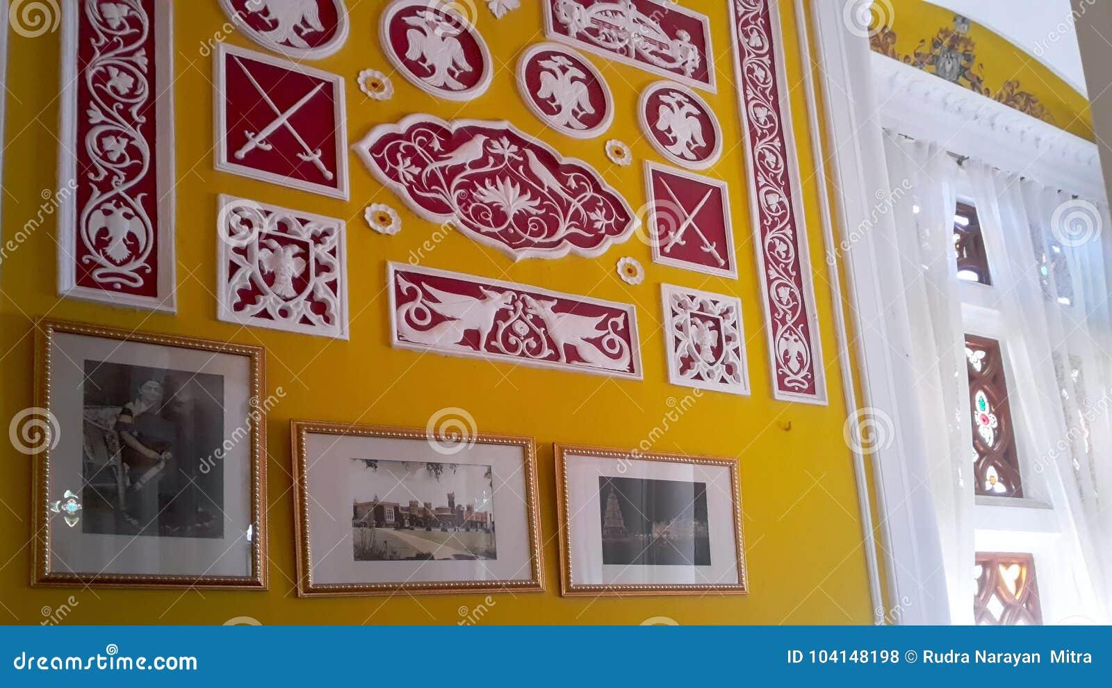 Художественное произведение на дворце Banglaore, Bengaluru, Индии
