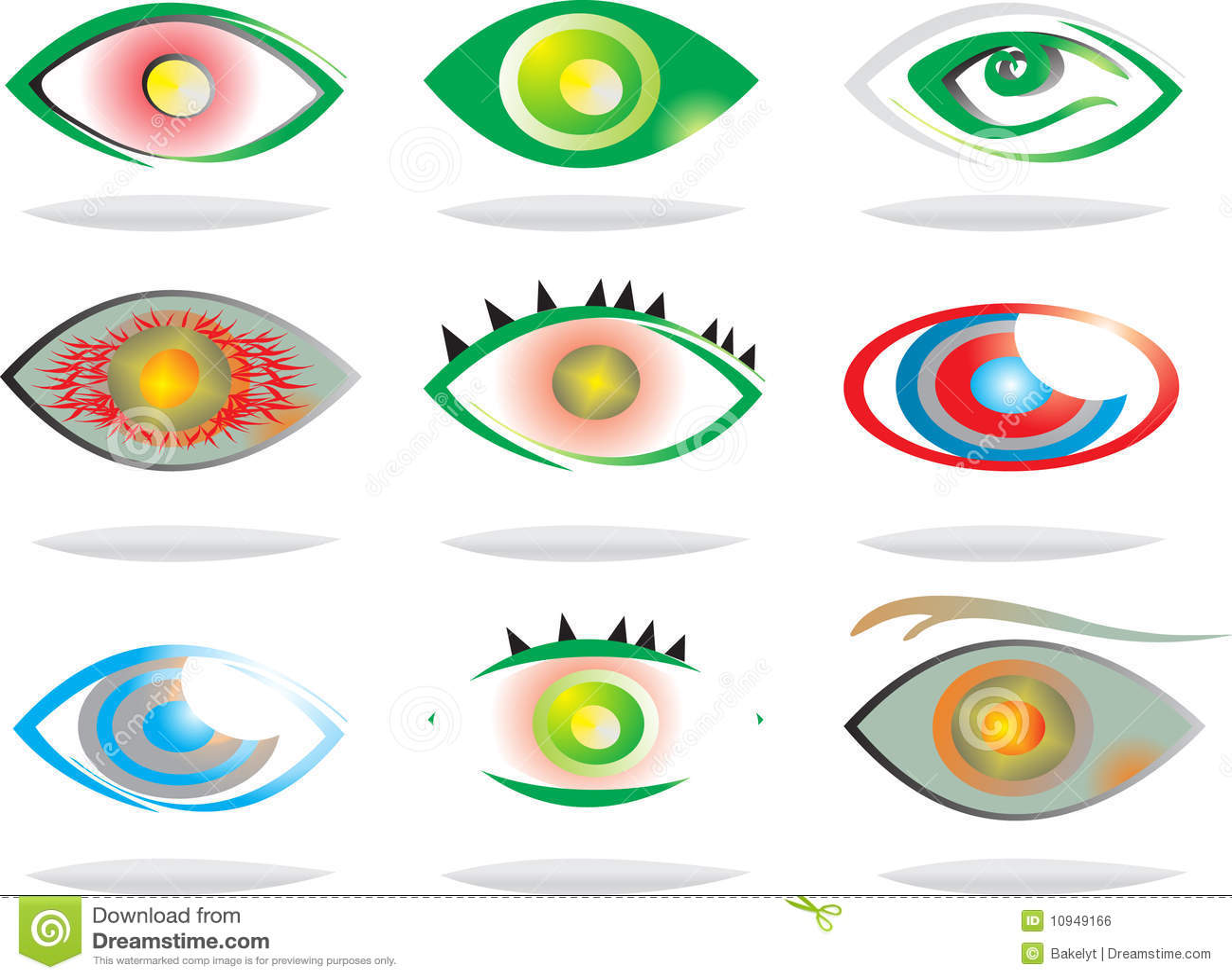 художнический вектор глаз