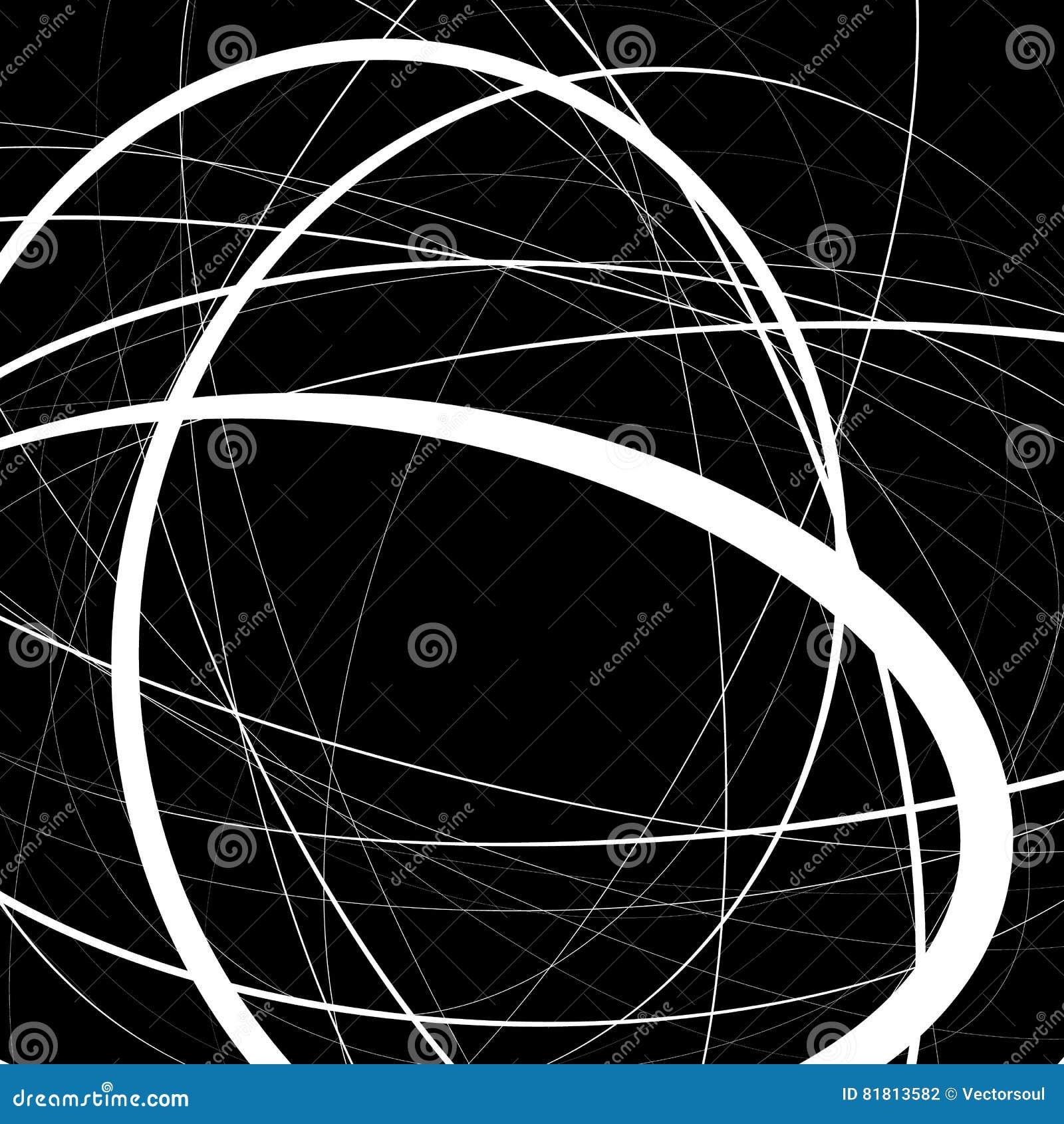 Художническая иллюстрация с напряжённое случайным, линии сложной формы Ge