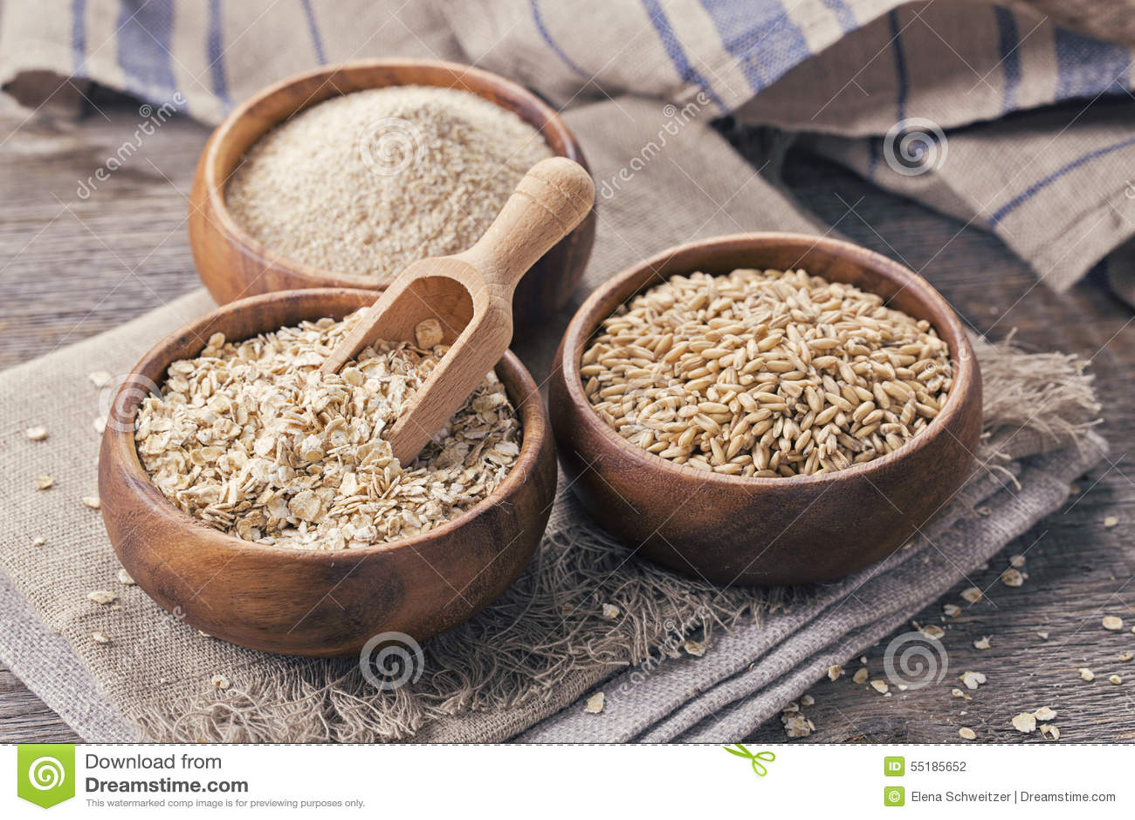 Хлопья, семена и отруби овса