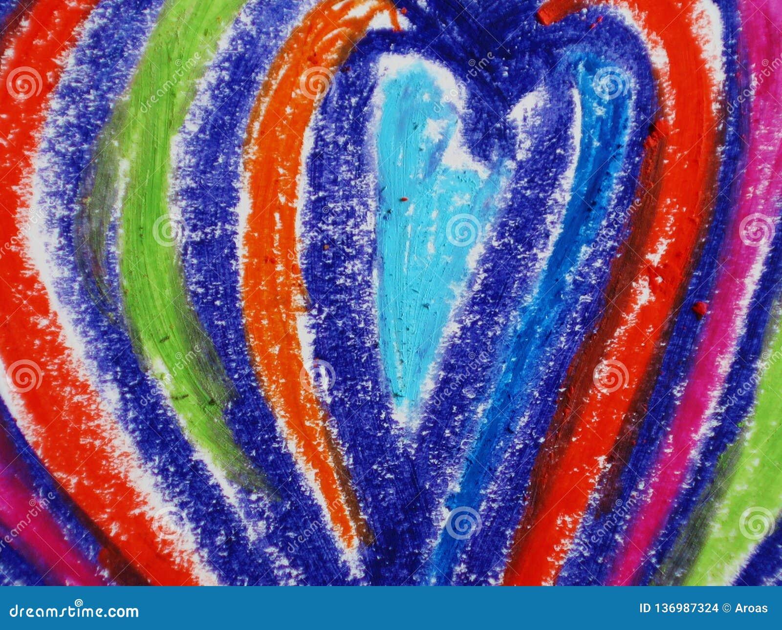 цветастая форма сердца