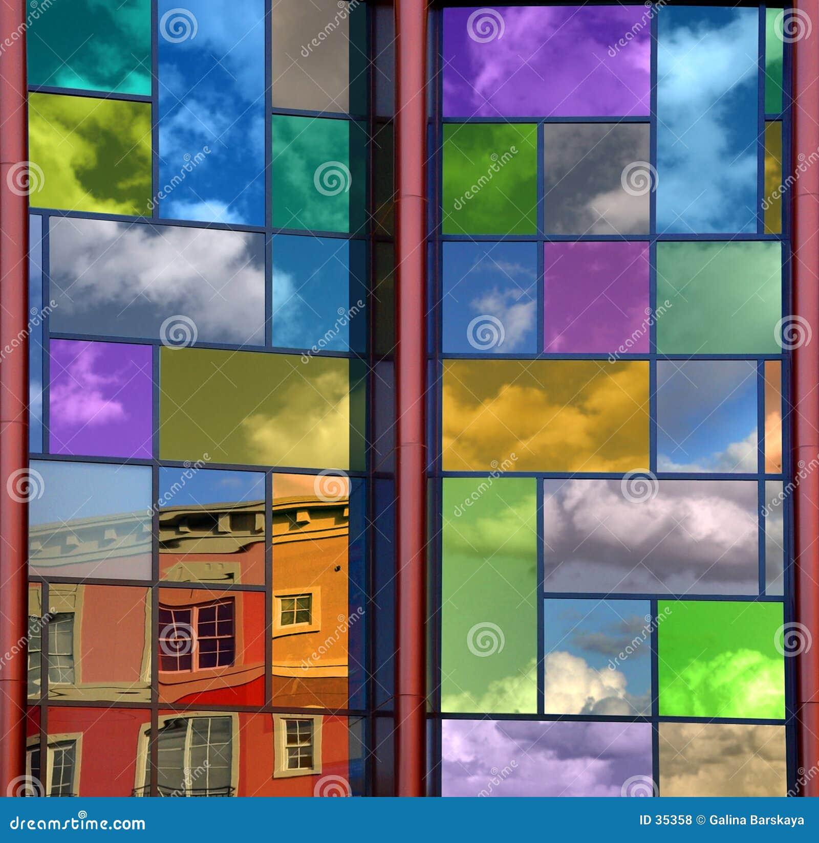 цветастое отражение