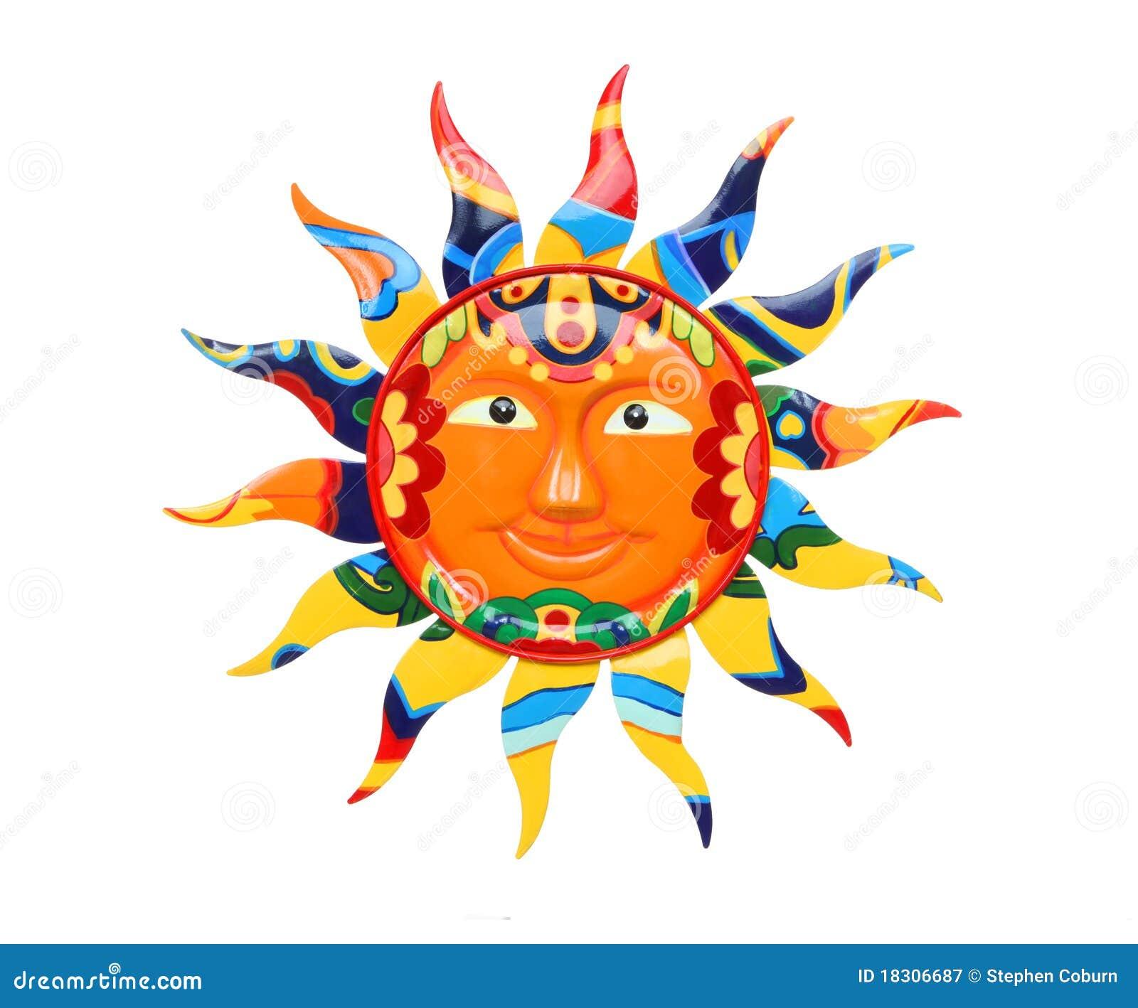 цветастое солнце живое