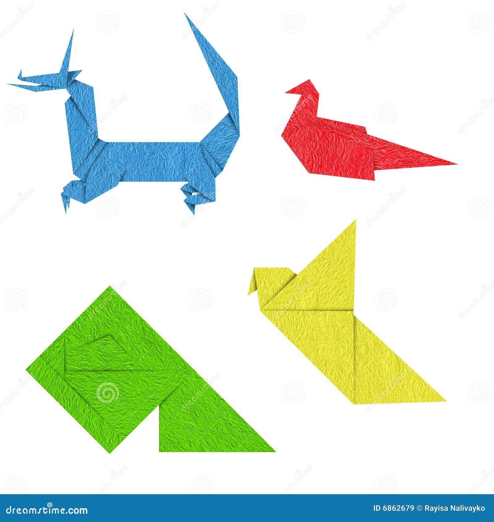 цветастое origami