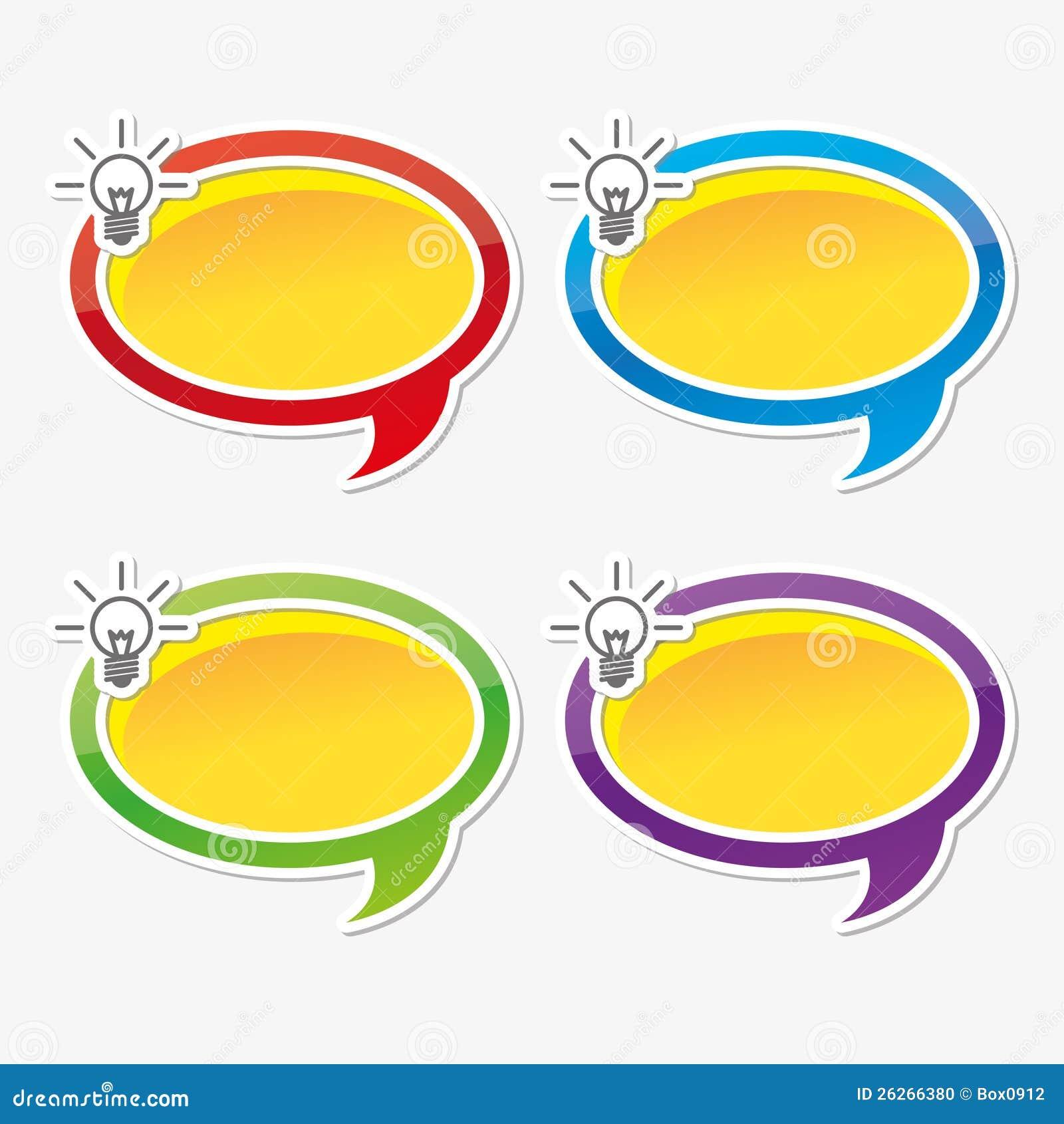 Цветасто воодушевьте пузыри речи