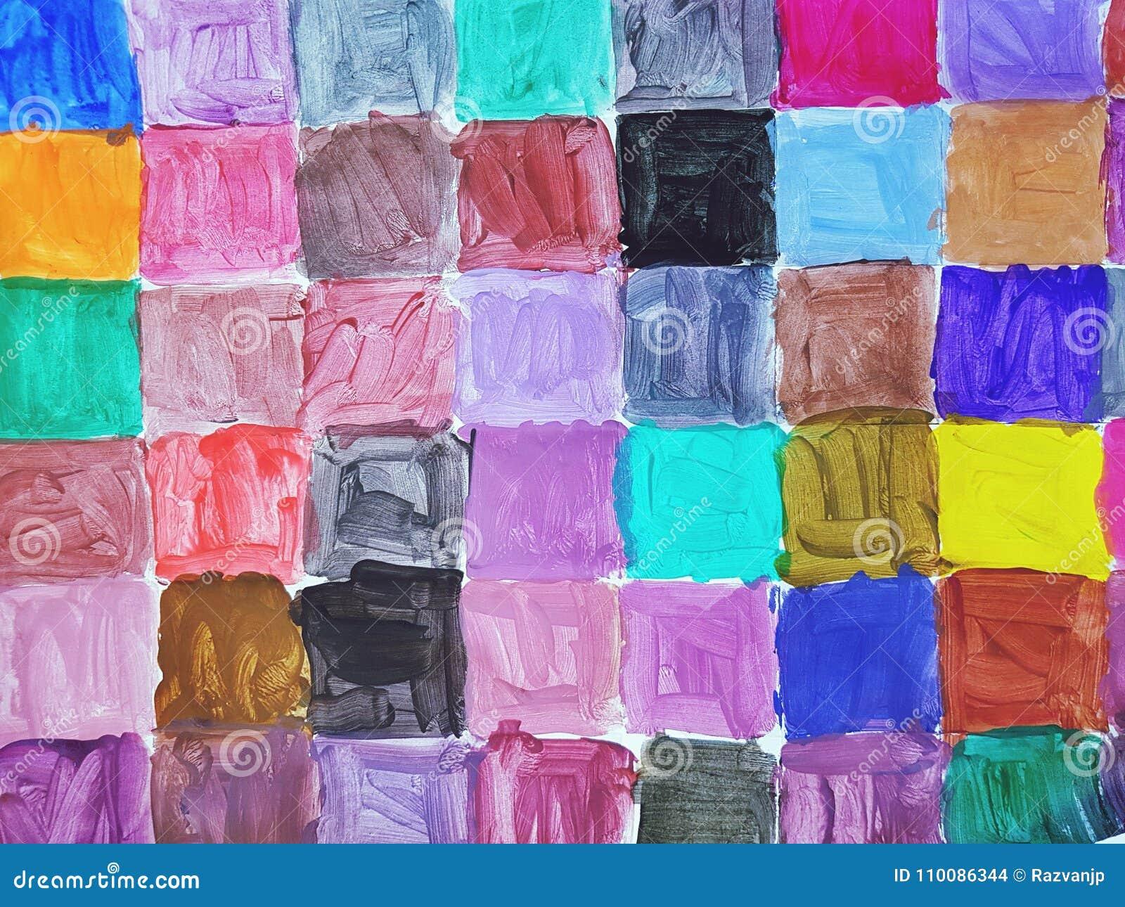 цветастые квадраты