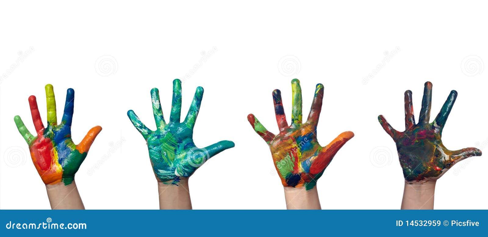 цветастые руки