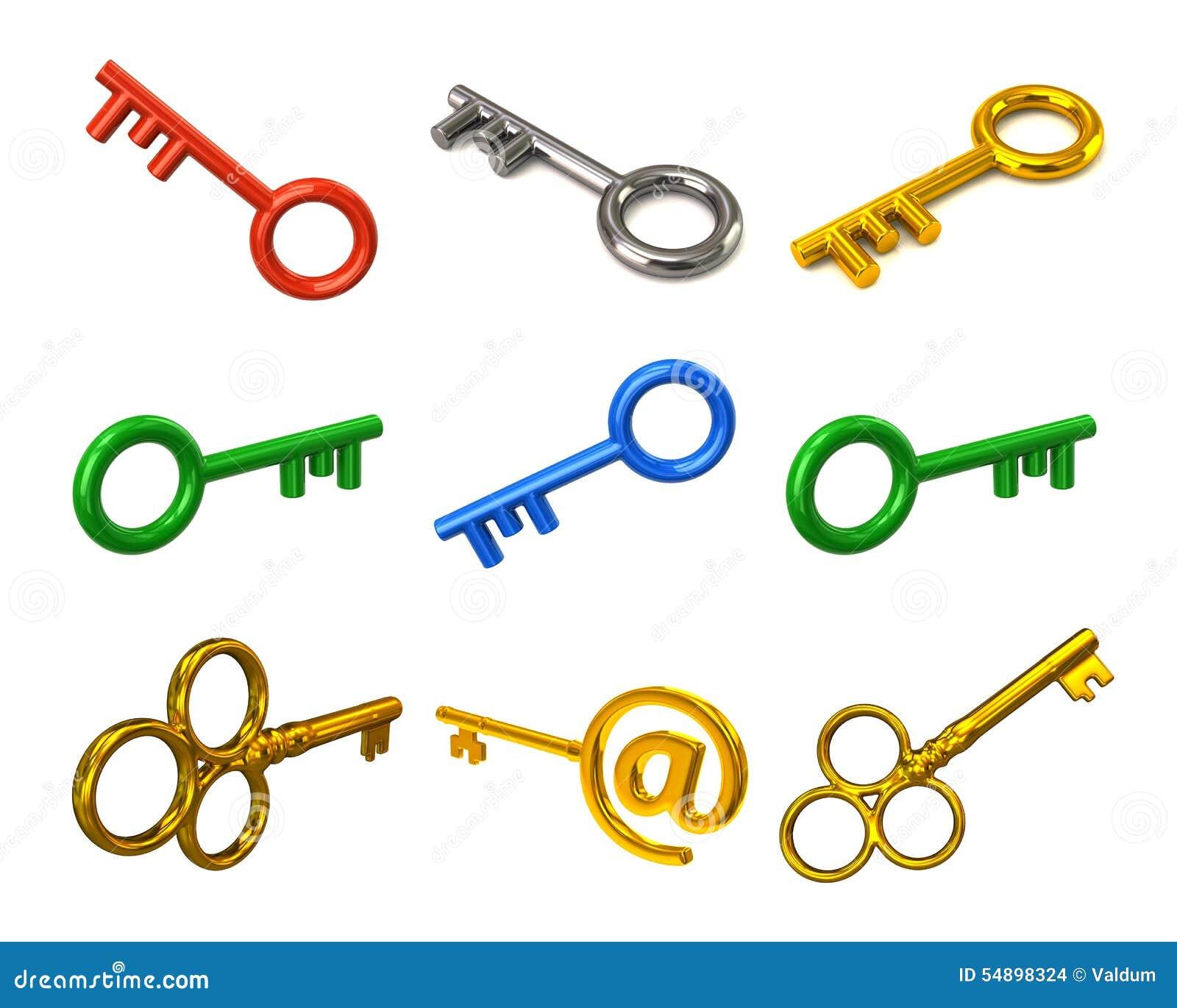 цветастые установленные ключи