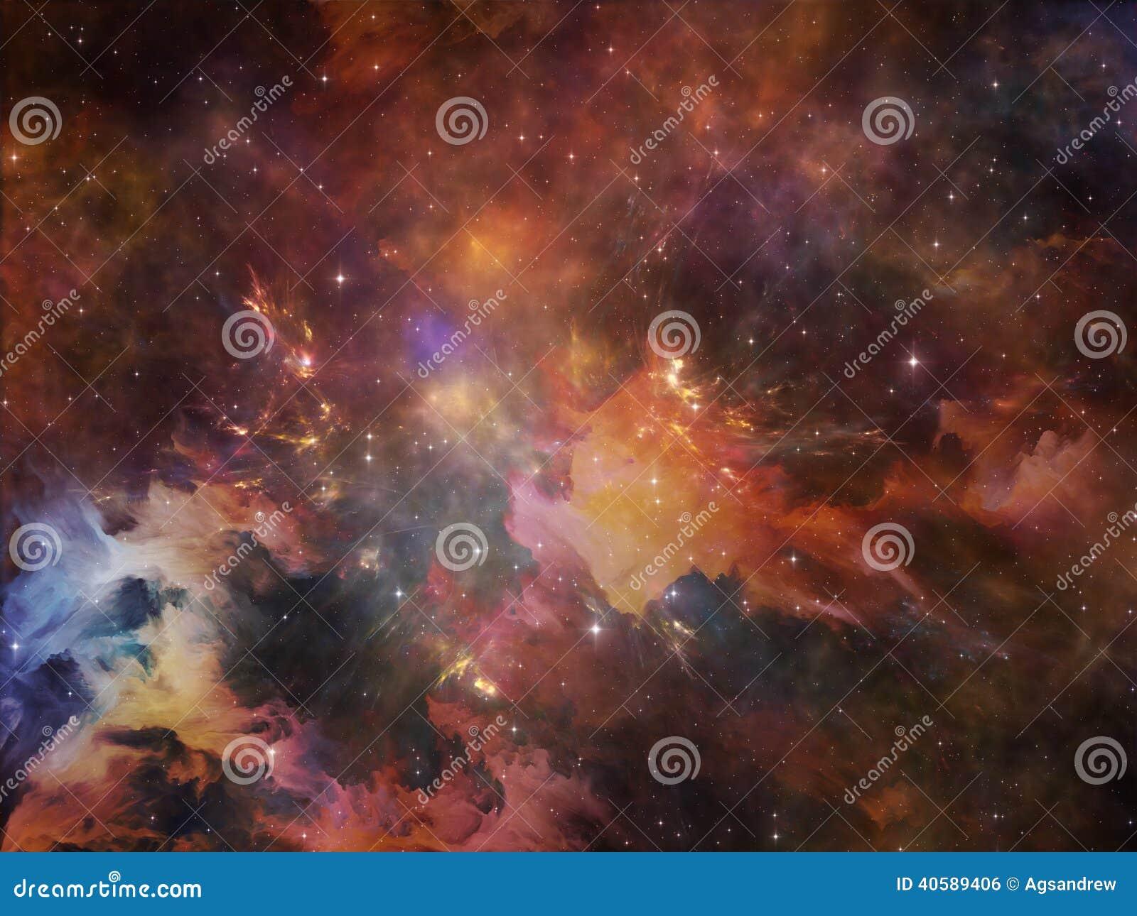 цветастый космос