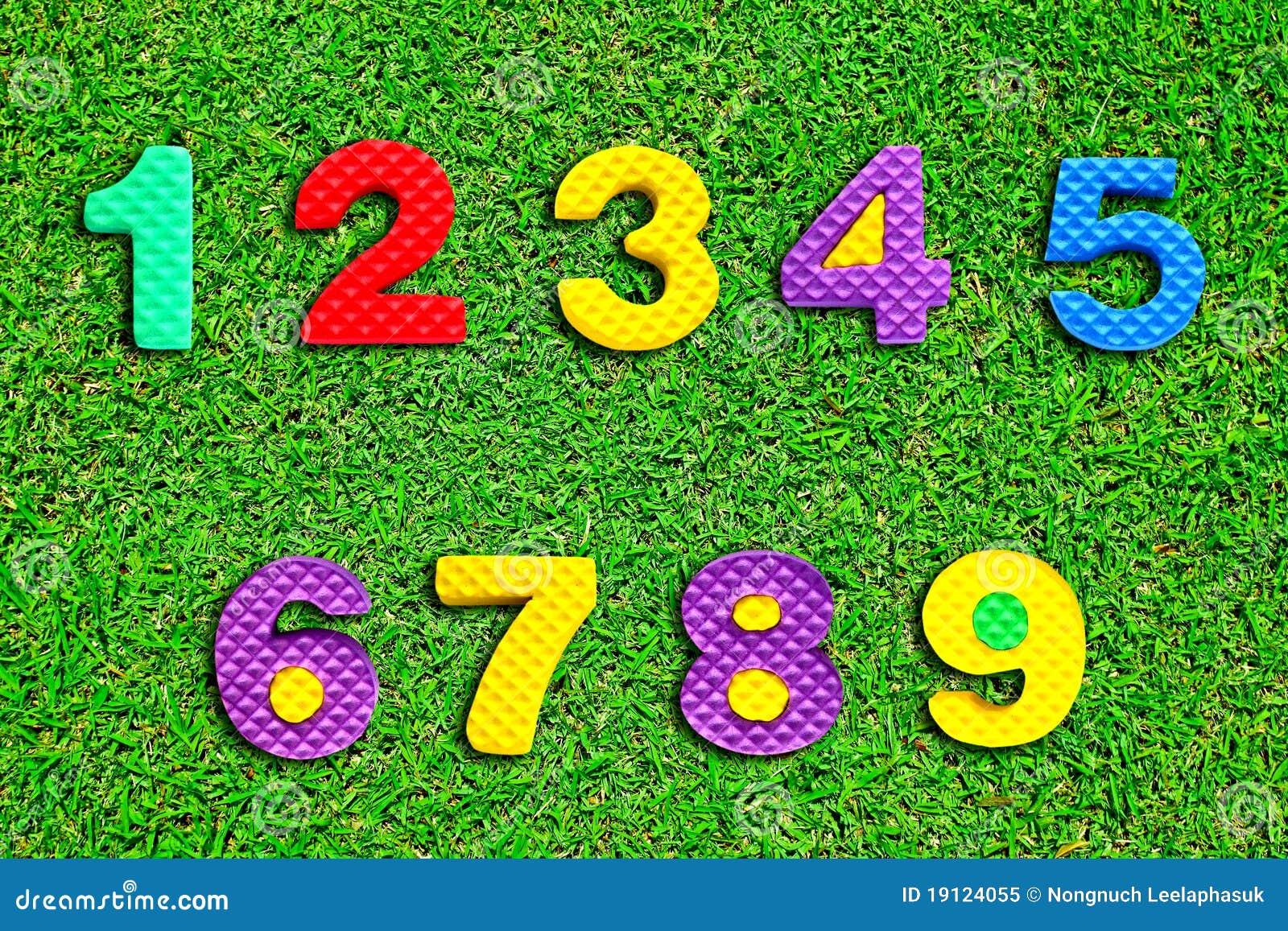 Номер зелёного цвета