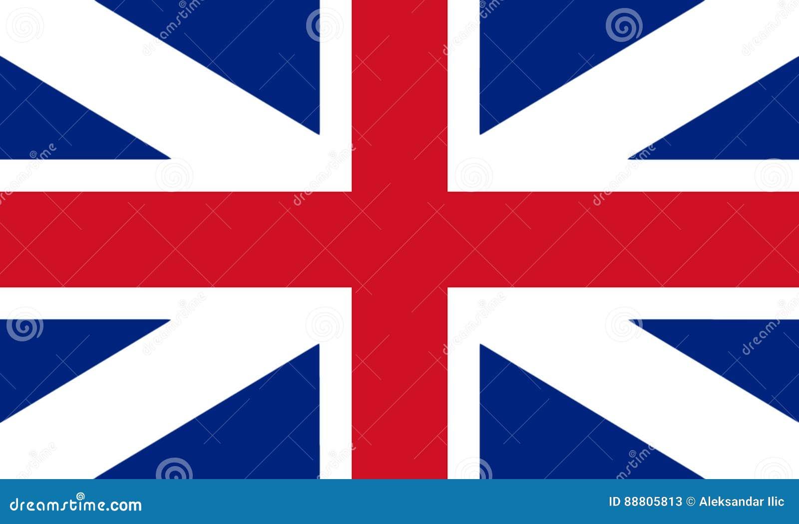 Цвета ` s короля флага Великобритании Беда гражданских и положения Ensign 3D