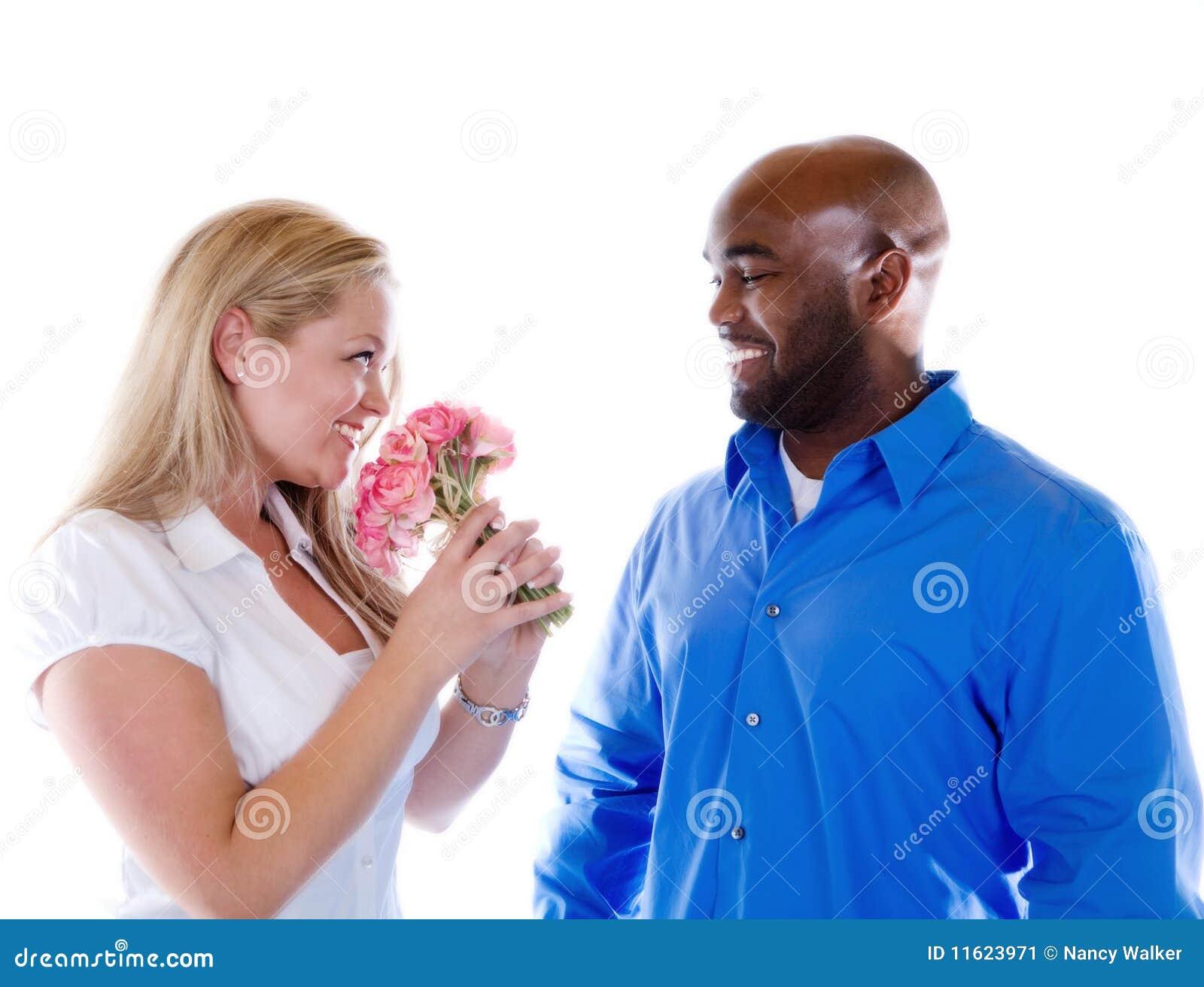 цветки давая человека
