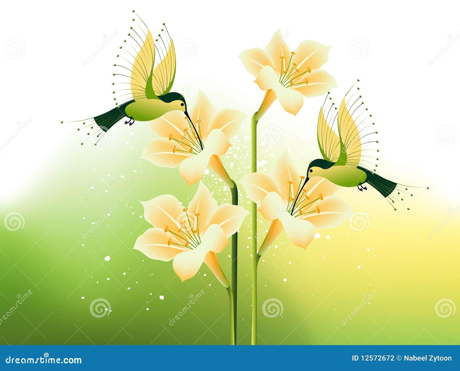цветки птицы припевая