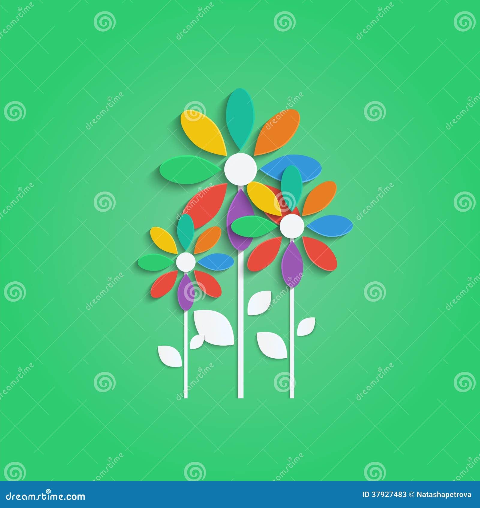 Цветки с красочными лепестками