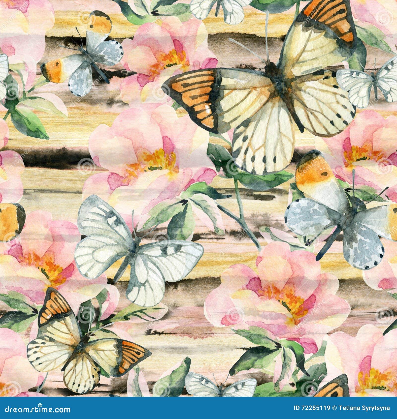 Download Цветки Briar акварели и картина бабочки безшовная Ветви Розы собаки в винтажном стиле Иллюстрация штока - иллюстрации насчитывающей пастельно, флористическо: 72285119