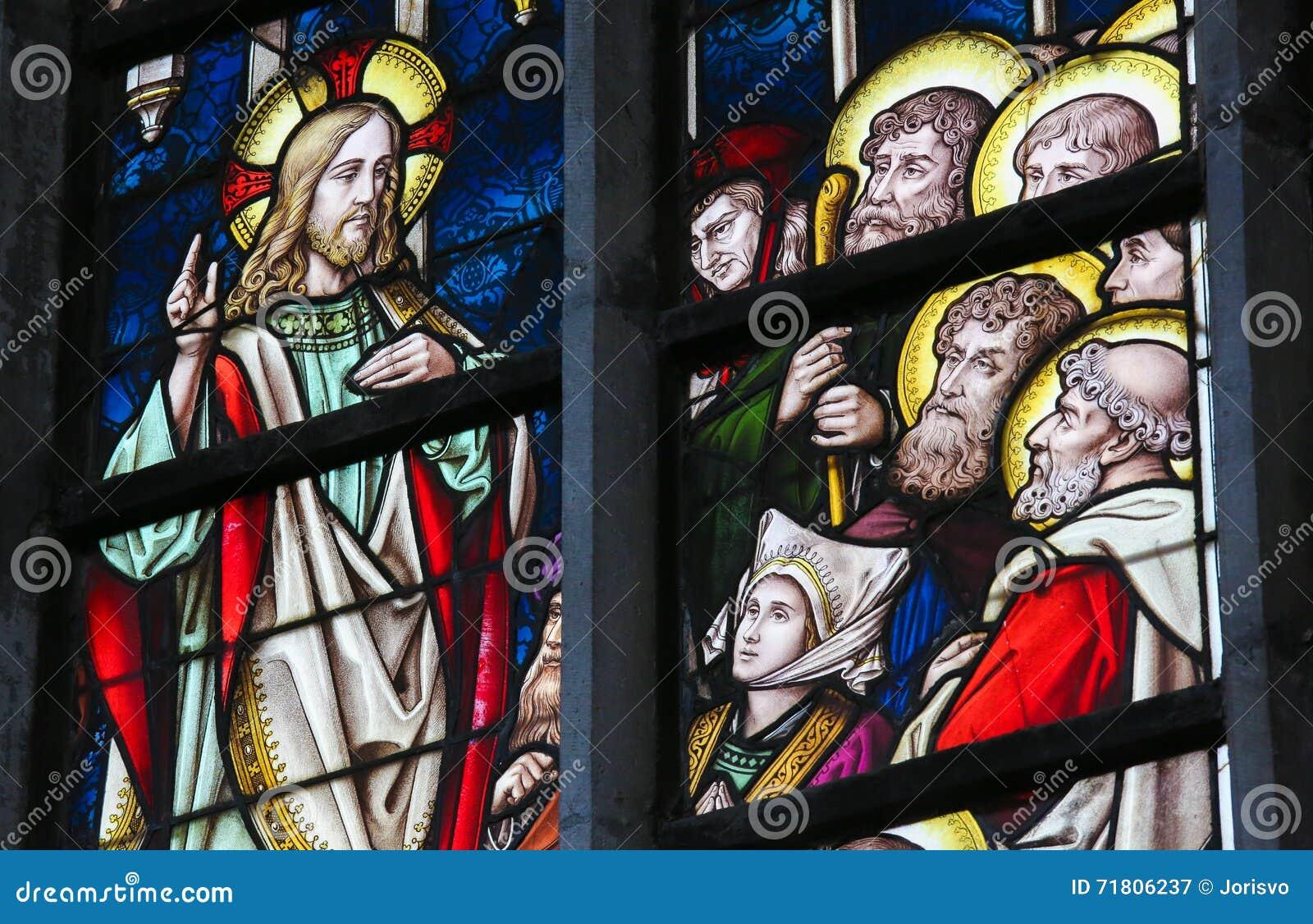Цветное стекло - проповедь на держателе