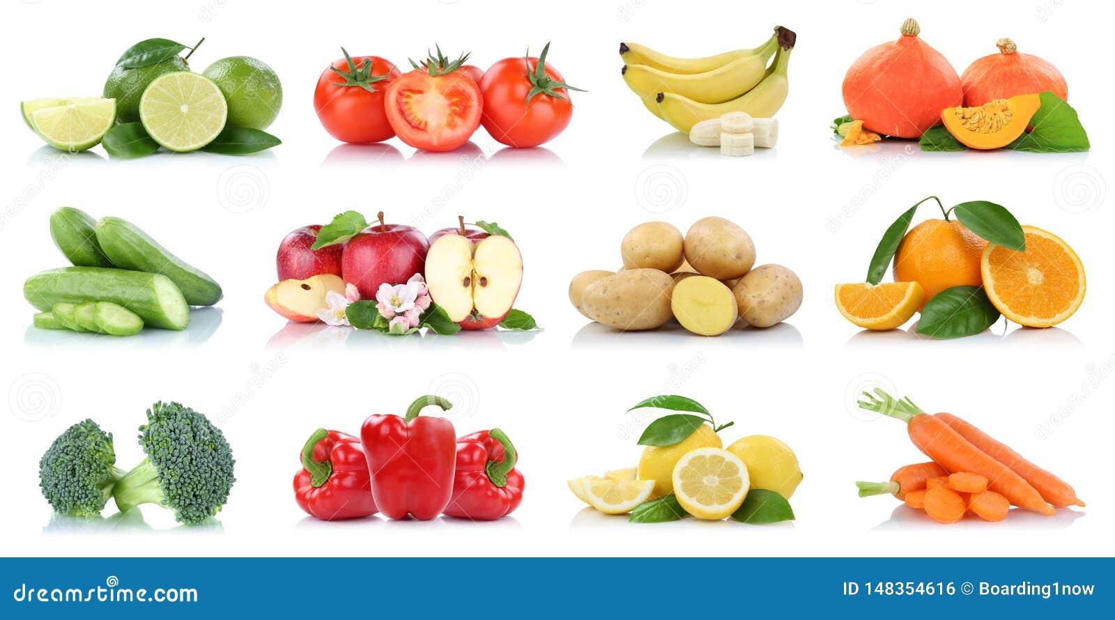 Цветов банана томатов яблок яблока овощей плодов изолированные собранием свежие фрукты оранжевых