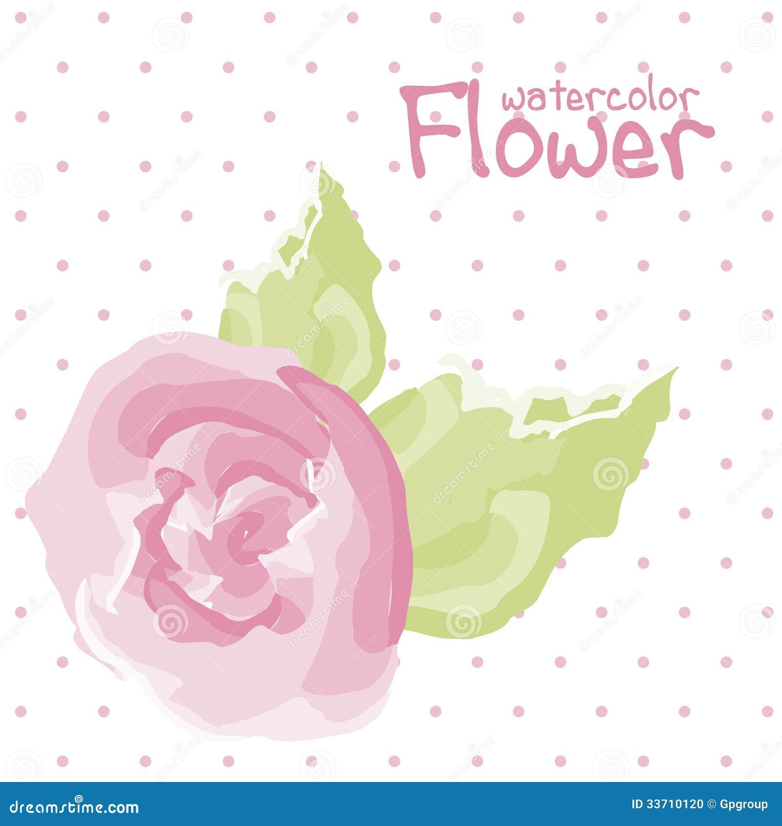 Цветок акварели