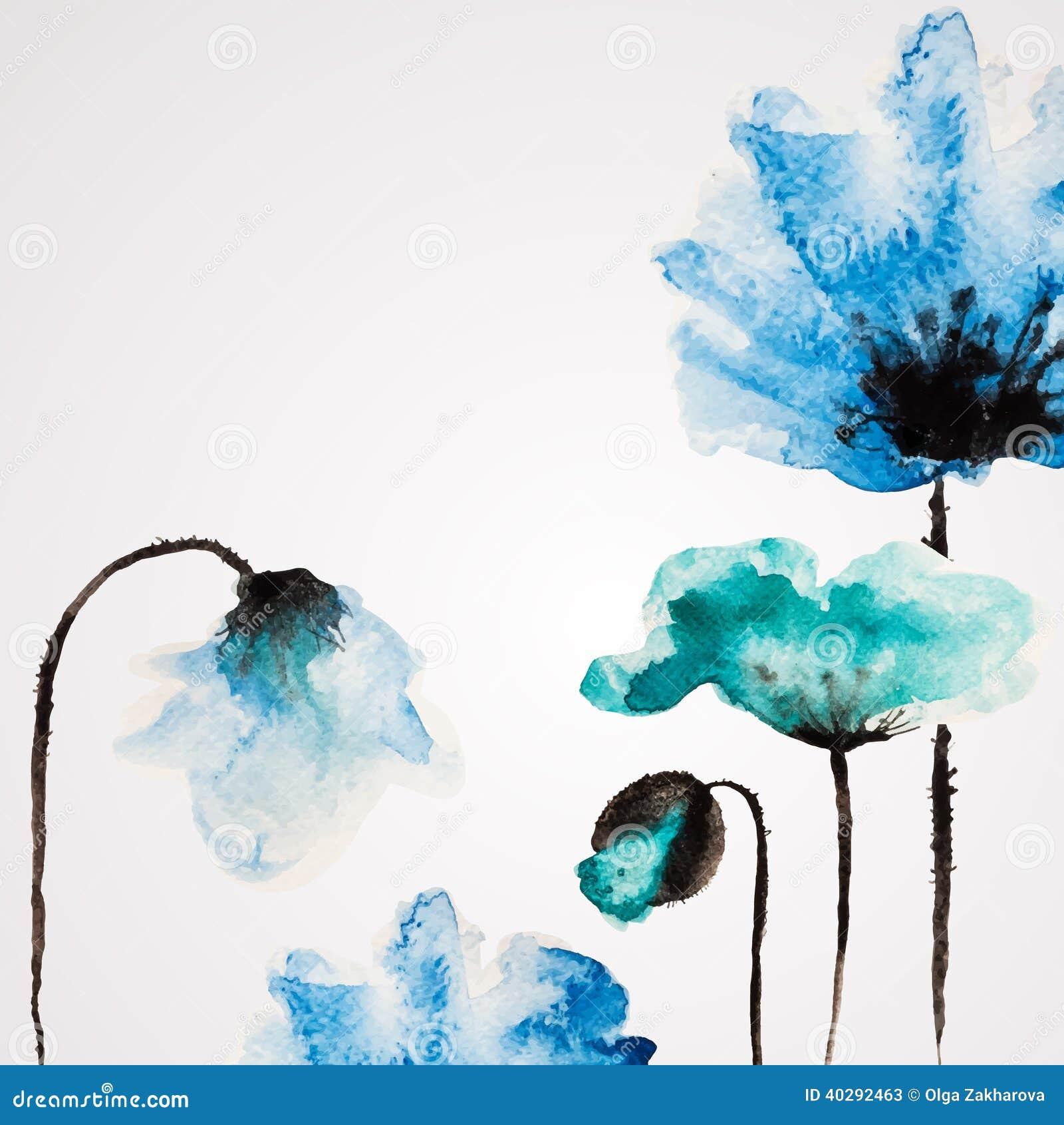 Цветок вектора акварели