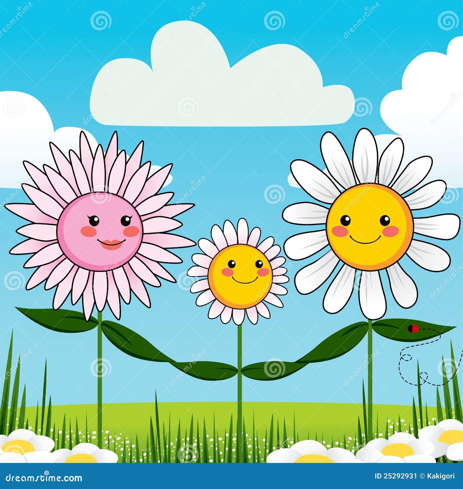 Рисунок семья на цветке