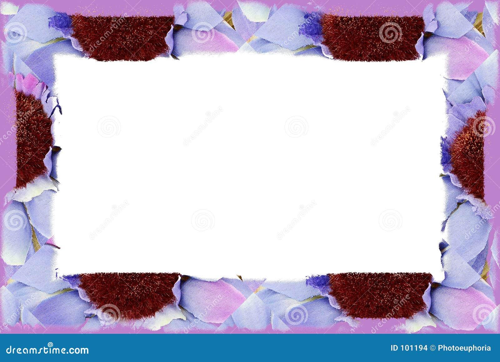 цветок ткани граници над белизной
