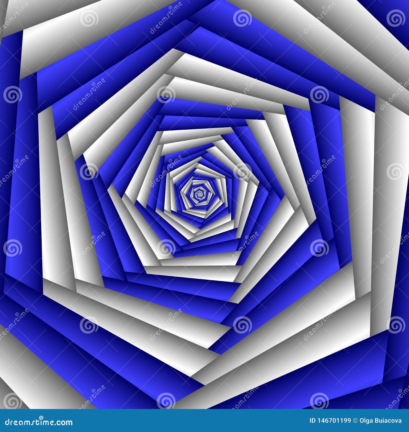 Цветок фрактали конспекта свирли, голубой, белый Геометрическая картина мозаики Большой для гобелена, ковра, одеяла, покрывала, т