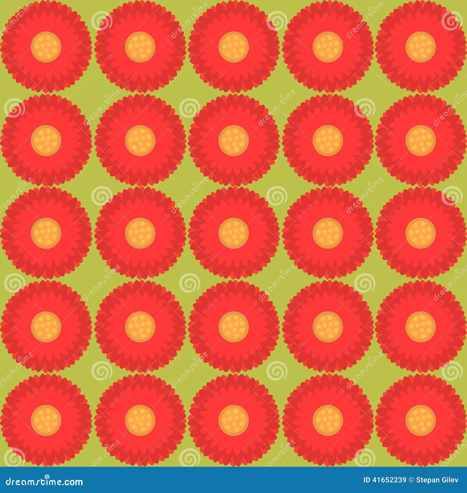 Цветочный узор - текстура иллюстрации безшовная