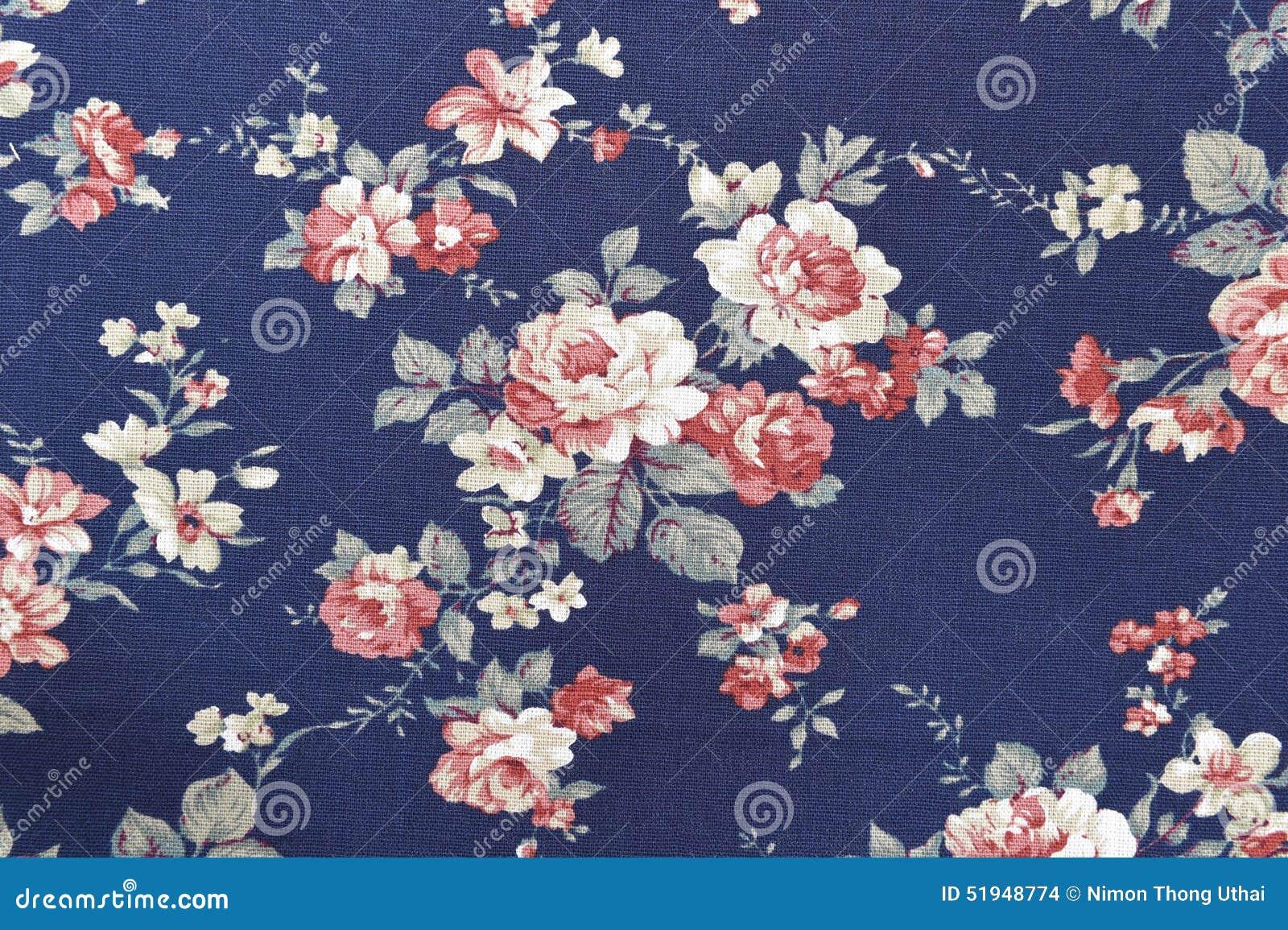 Цветочный узор ткани текстуры предпосылки