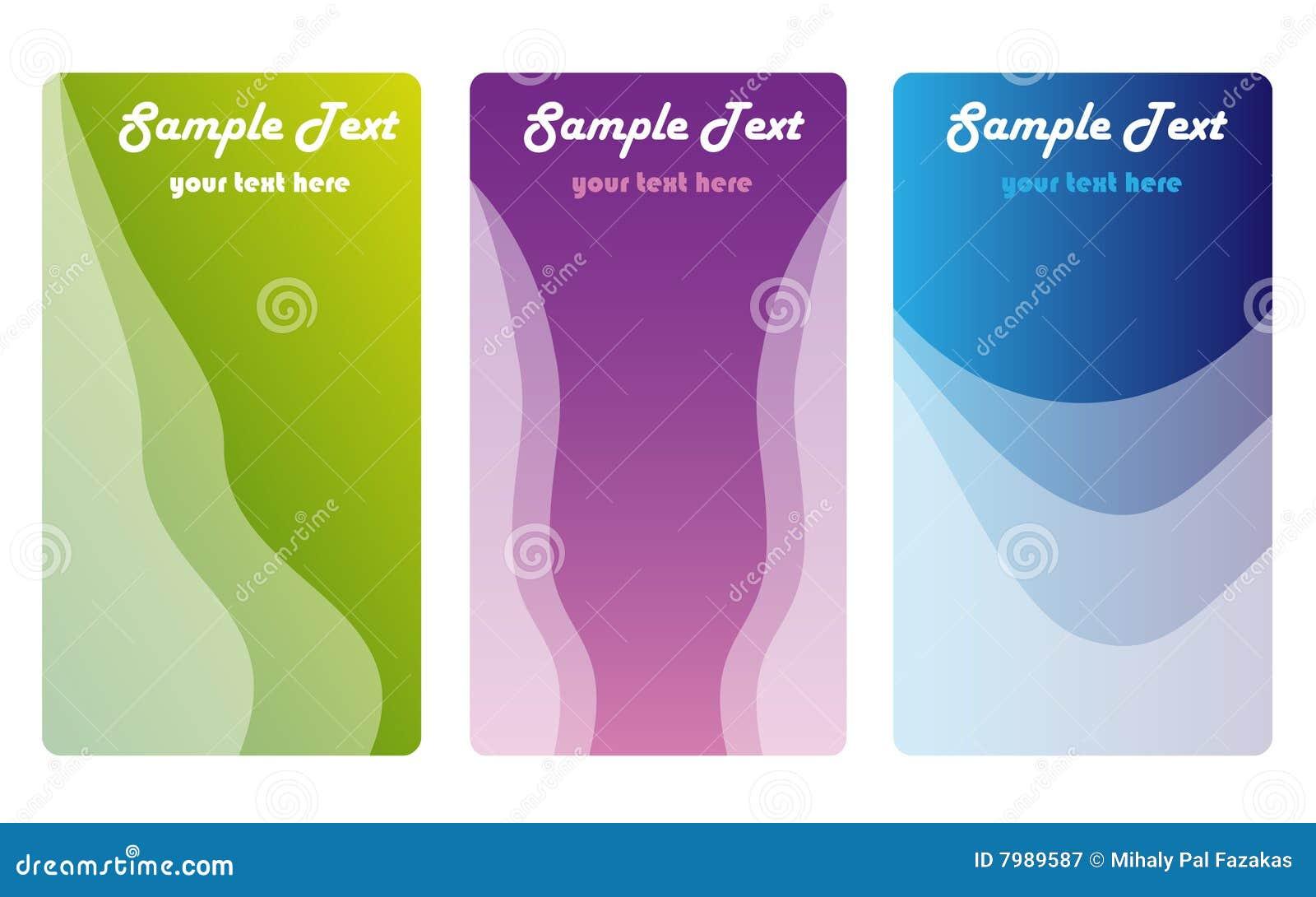 цвет визитных карточек