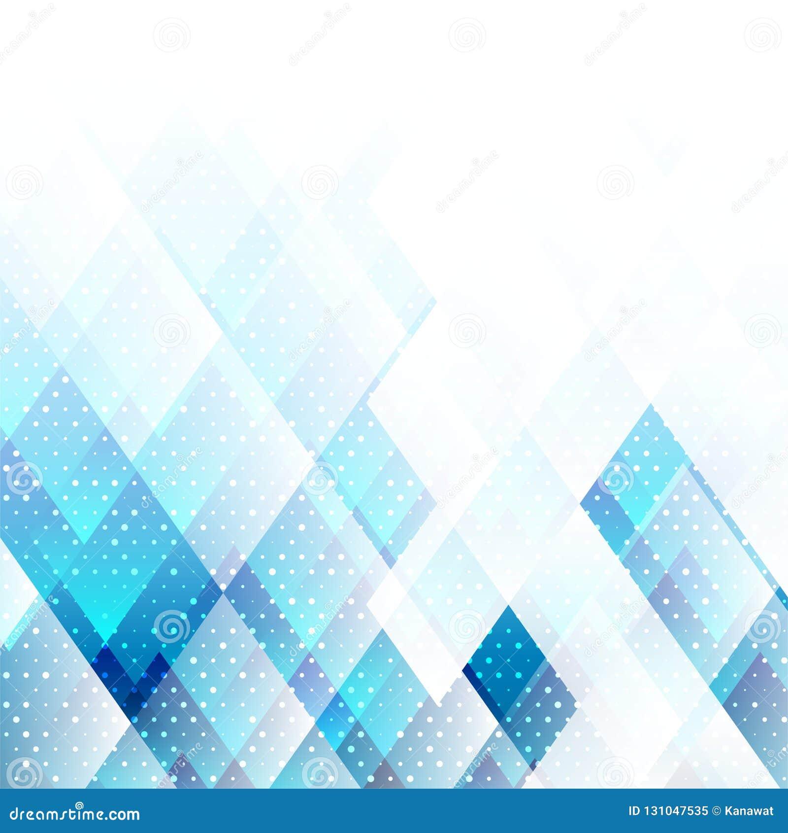 Цвет геометрических элементов голубой с предпосылкой вектора точек абстрактной