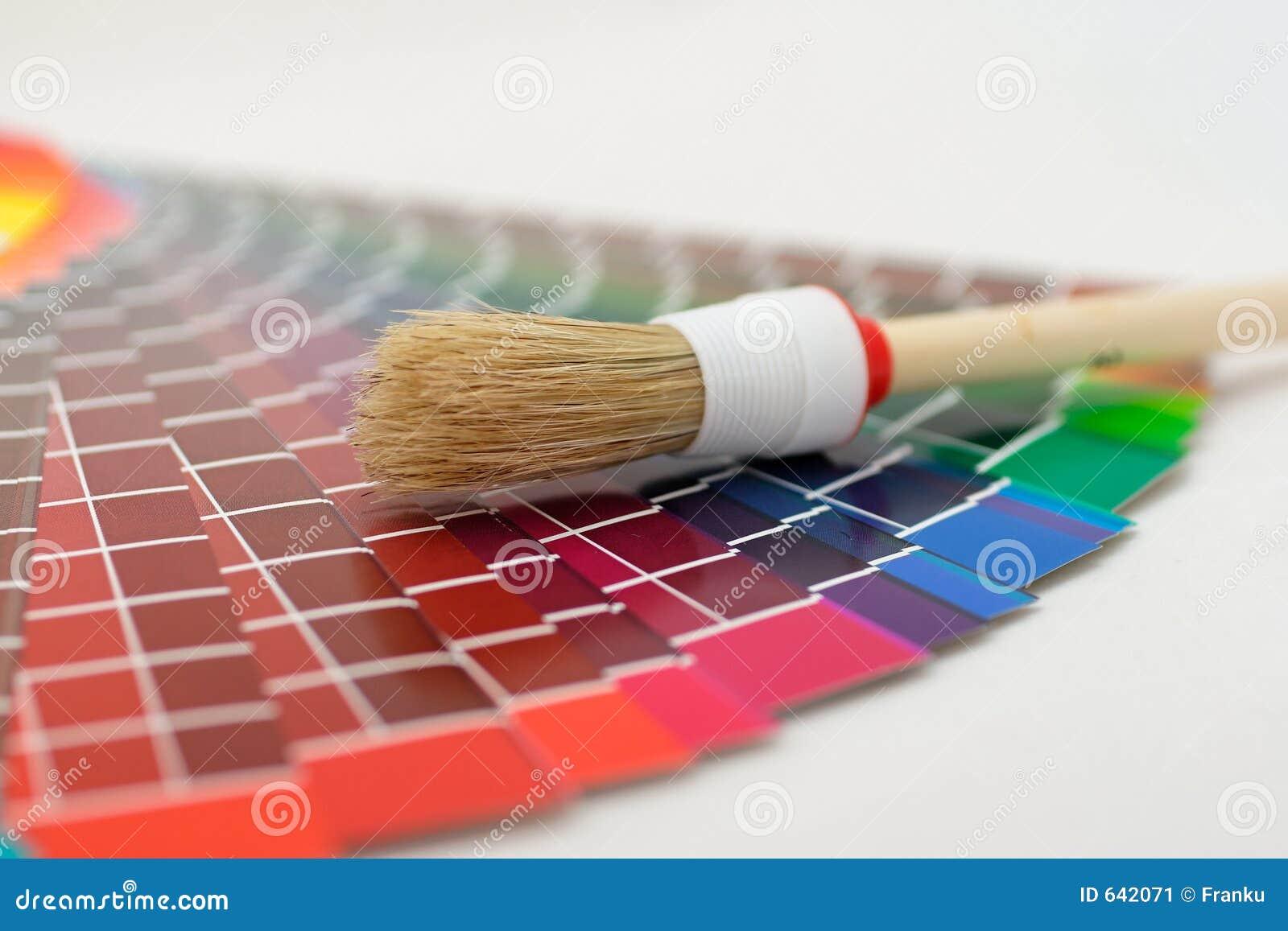 Download цвет диаграммы щетки стоковое изображение. изображение насчитывающей сгабривая - 642071