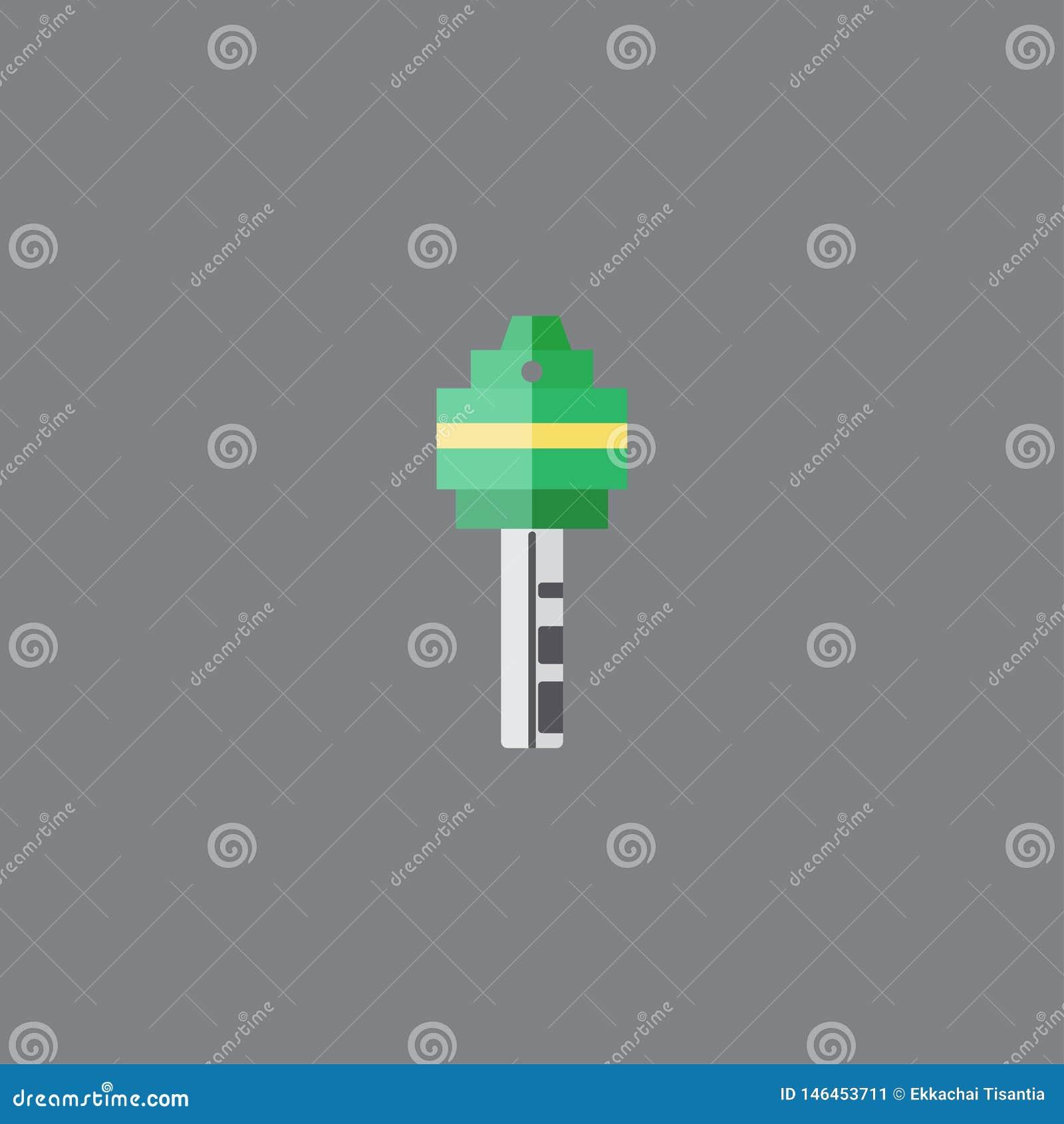 Цвет зеленого цвета стиля значка ключа плоский r r
