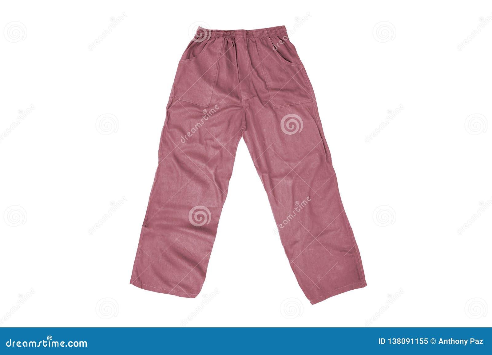 Цвет Men& x27; брюки s изолированные на белизне