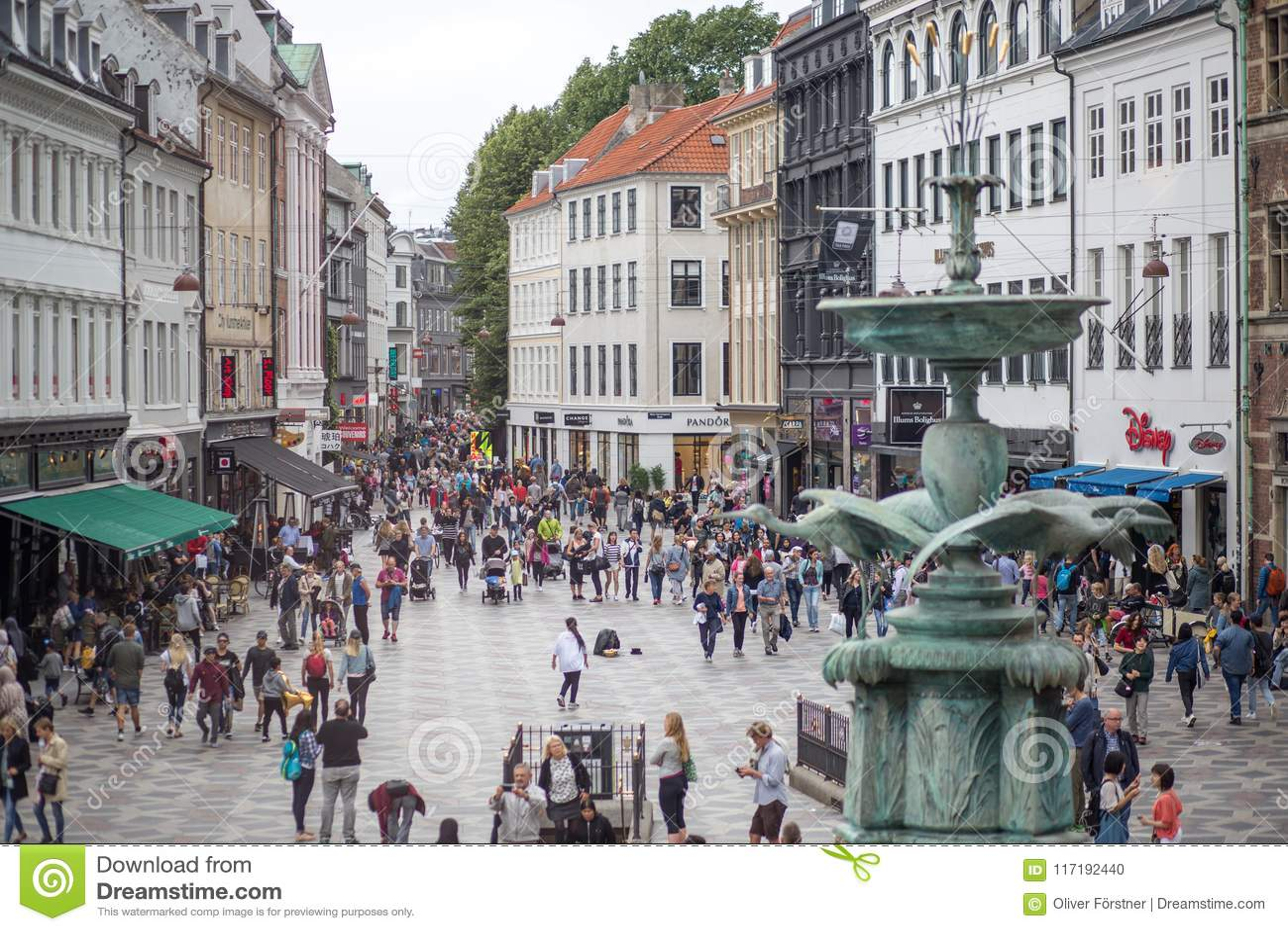 Центр города Копенгагена