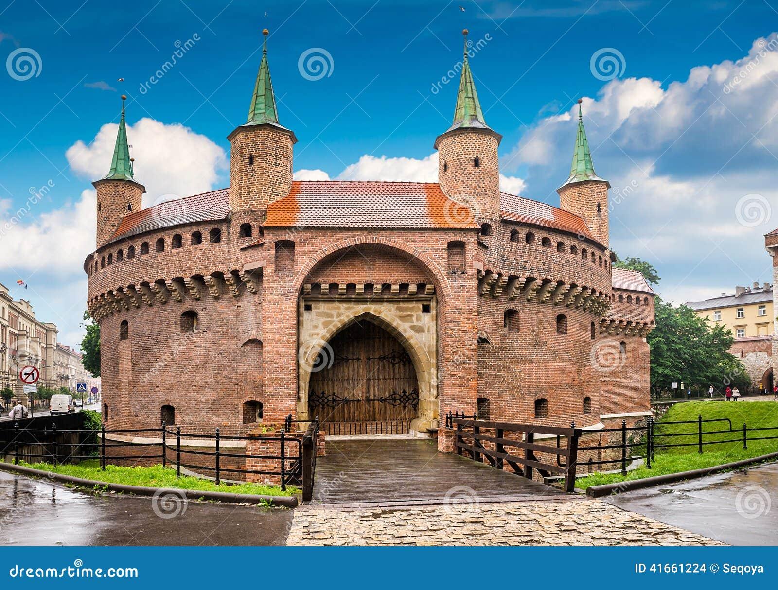 Центр Кракова - Польши исторический
