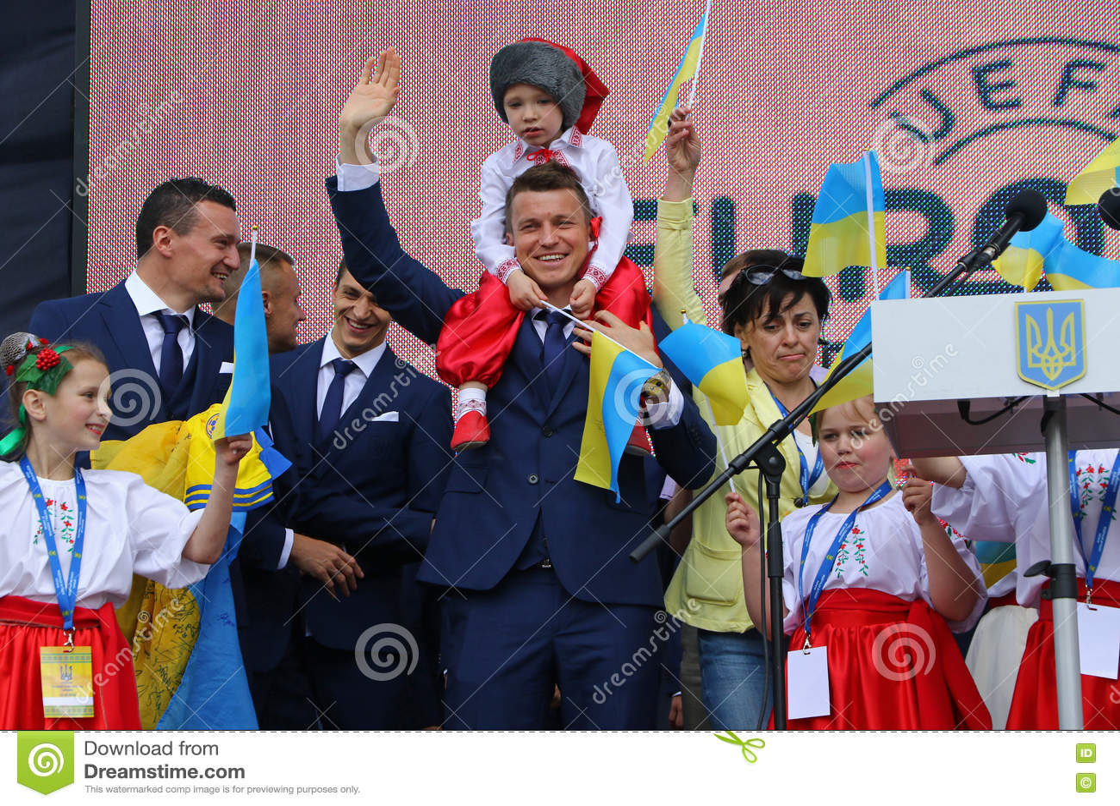 Церемония отклонения национальной футбольной команды Ukrai