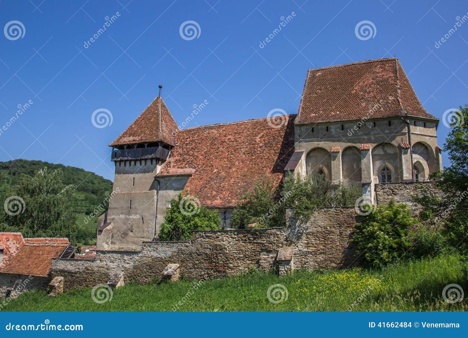 Церковь-крепость в румынском городке конематки Copsa