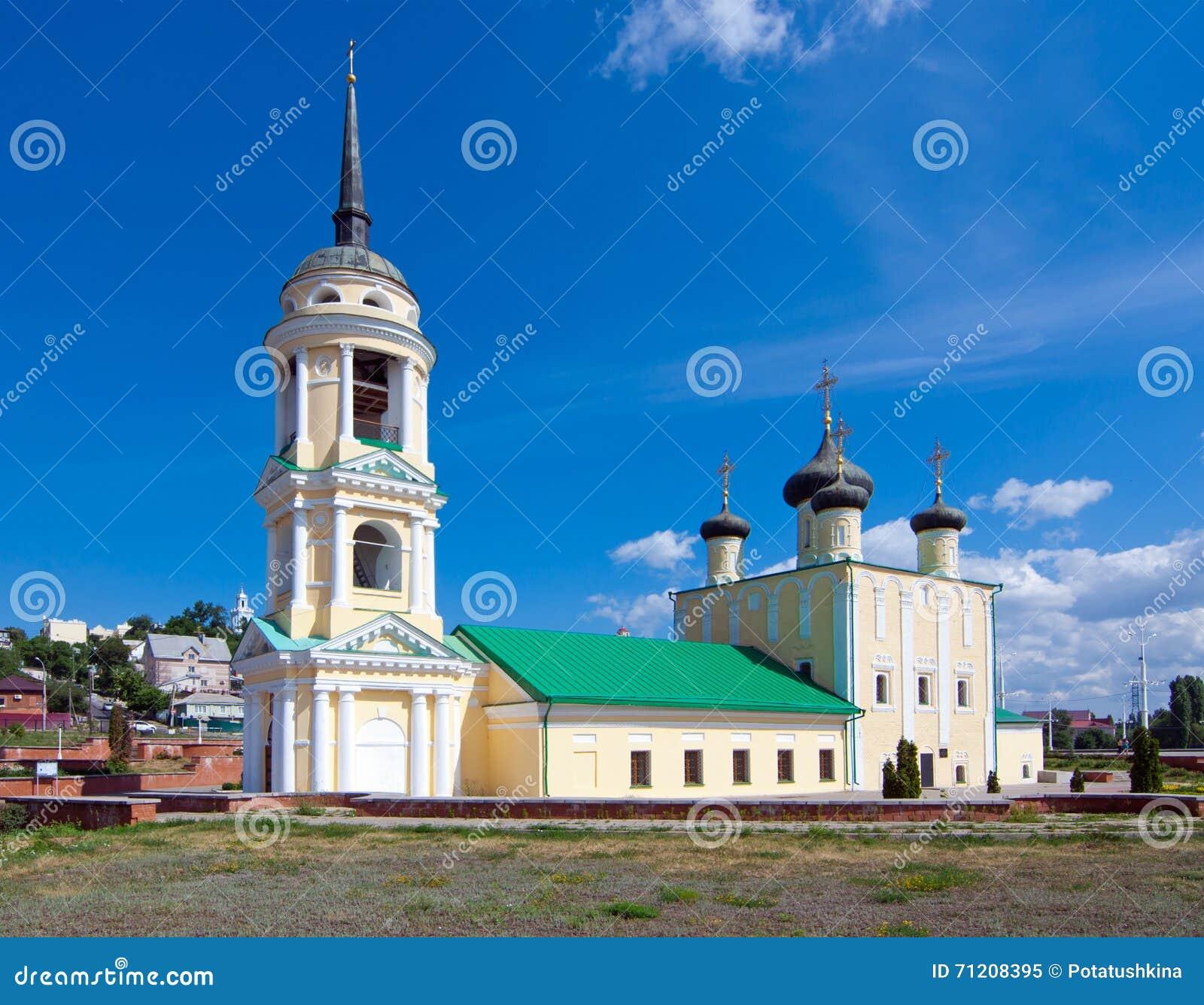 Церковь предположения на обваловке Адмиралитейства в городе Воронежа, России