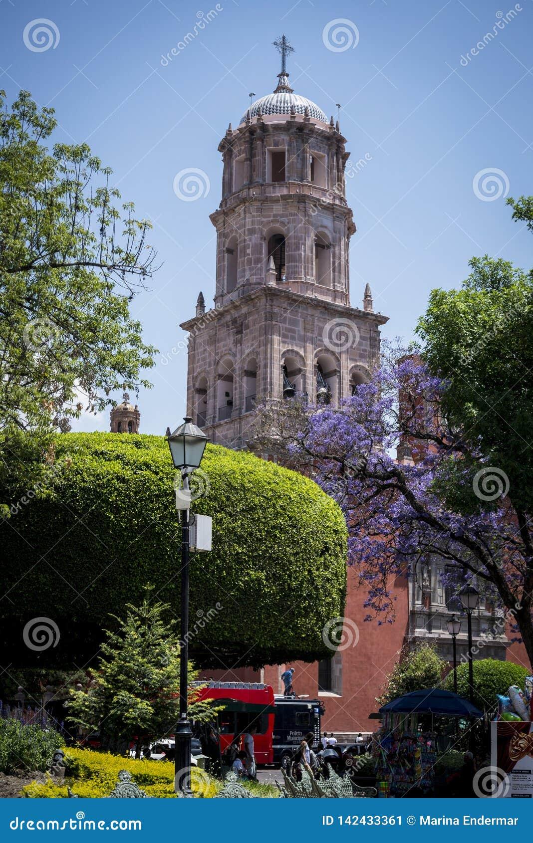 Церковь Сан-Франциско, города Queretaro, Мексики
