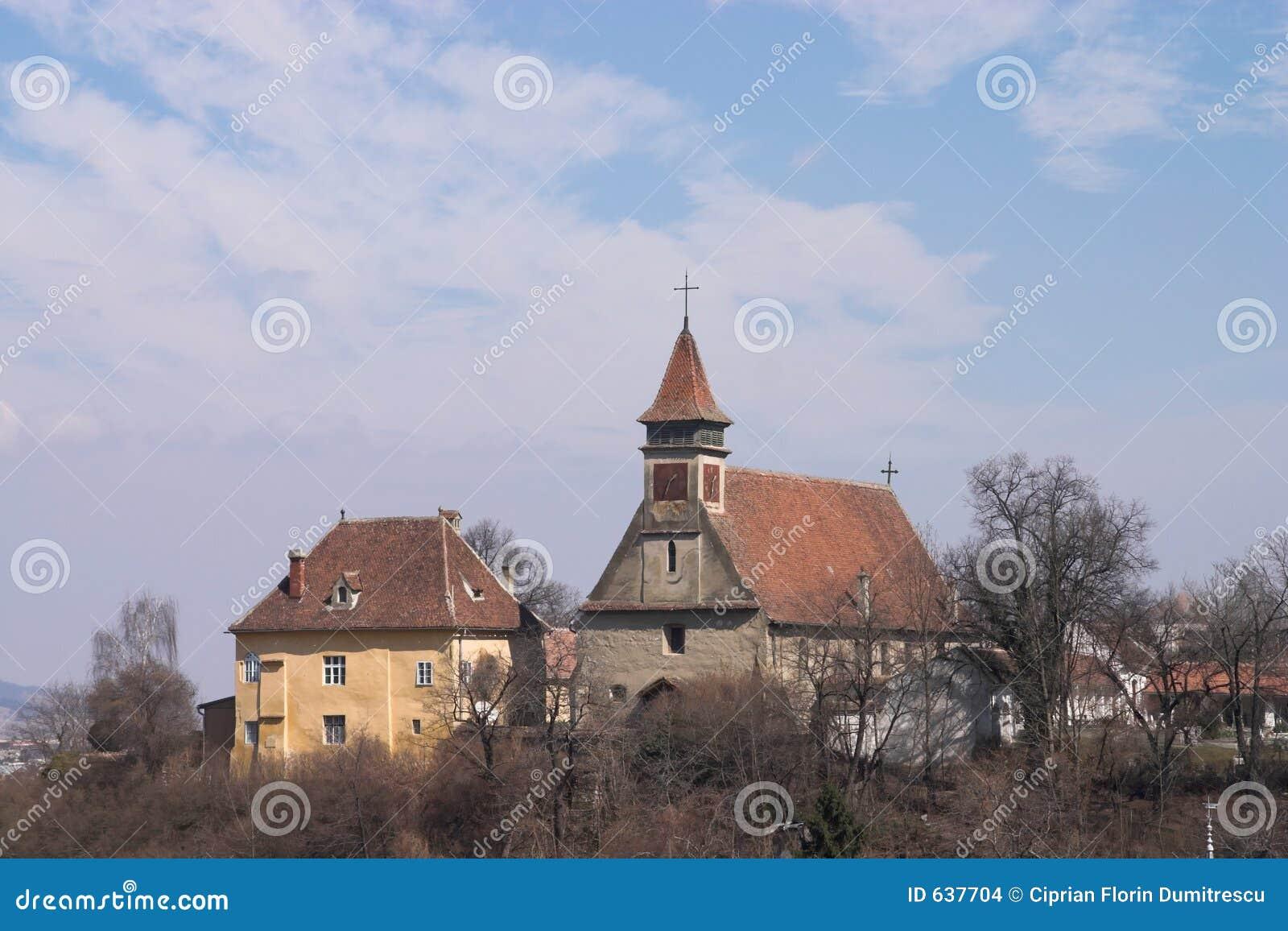 Download церковь старый s brasov стоковое фото. изображение насчитывающей городок - 637704