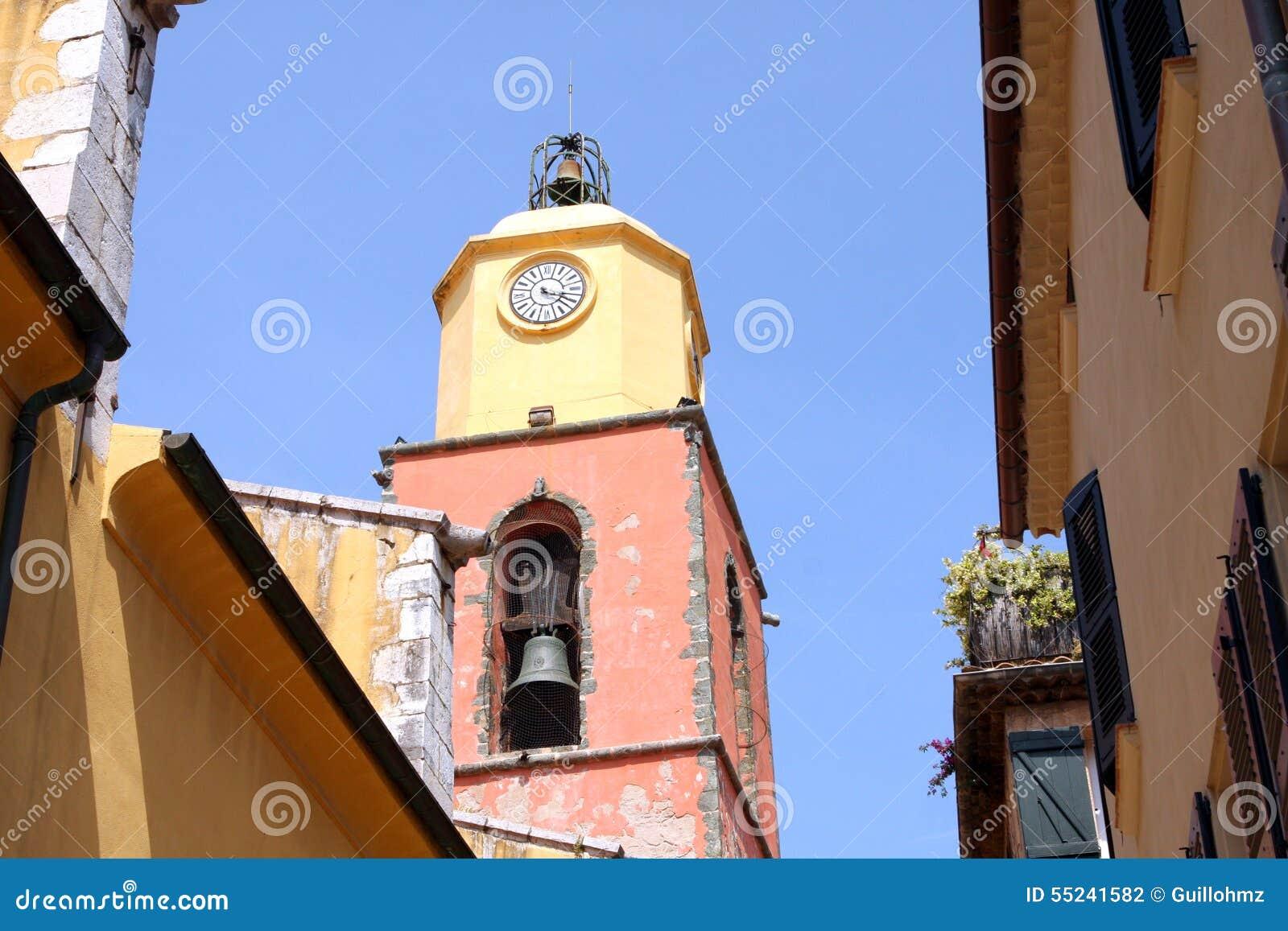 Церковь Франция колокольни St Tropez провансальская