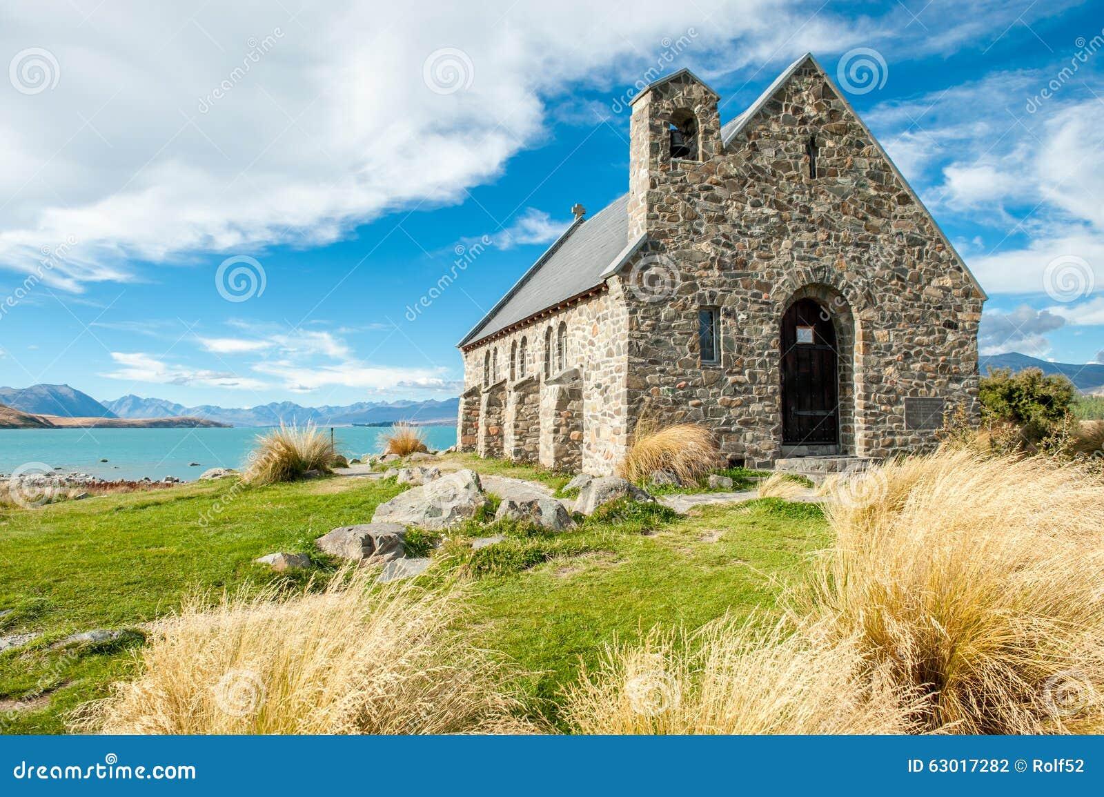 Церковь хорошего чабана, озеро Tekapo, Новая Зеландия
