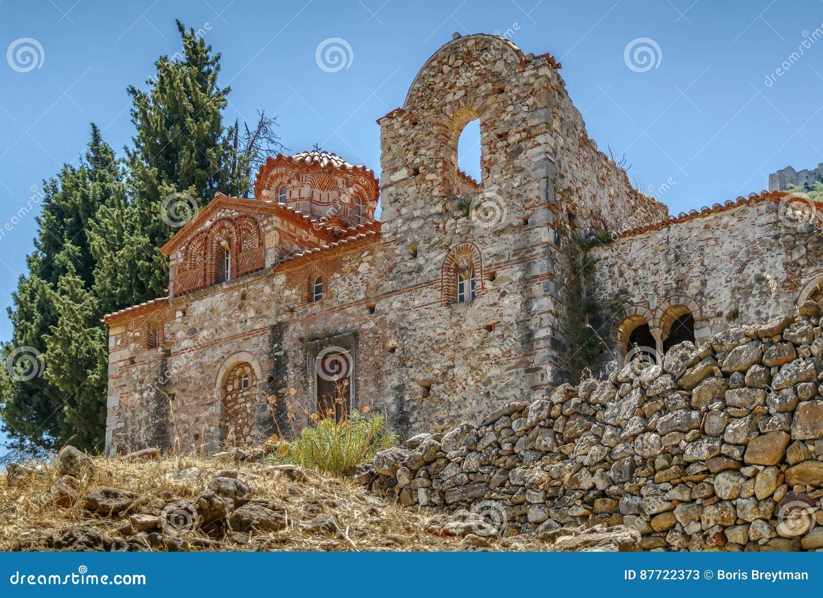 Церковь Evangelistria в Mystras