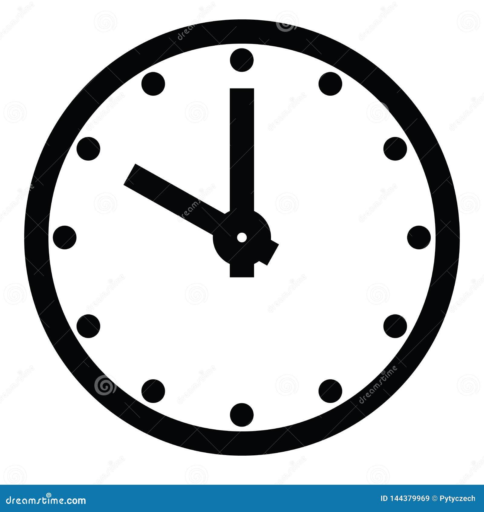 Циферблат Пустая шкала часа с часом и минутной стрелкой Часы метки точек Простая плоская иллюстрация вектора