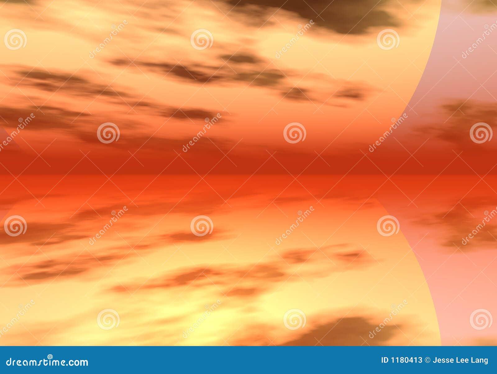 цифровое небо моря