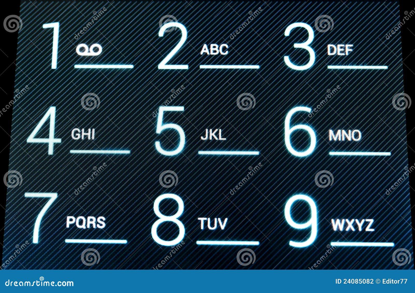 цифровой телефон клавиатуры