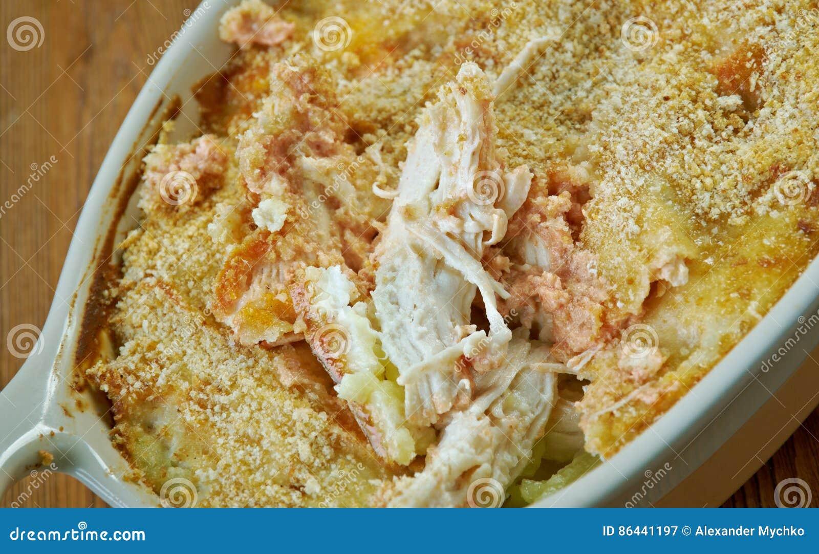 Цыпленок чеддера чеснока печет