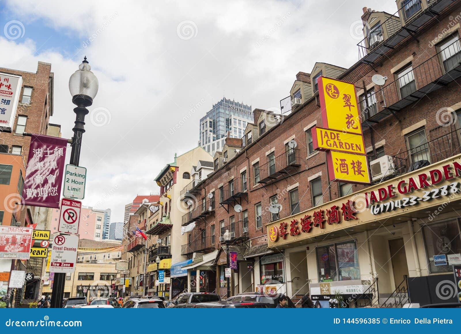 Чайна-таун Бостон единственный район выдерживать Чайна-таун в области Новой Англии Соединенных Штатов