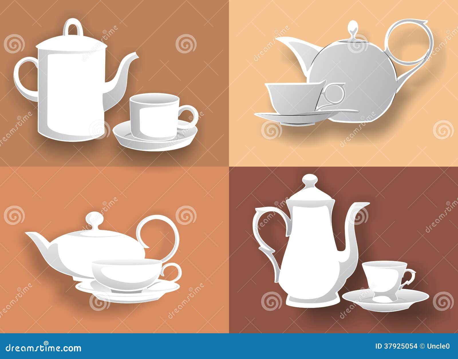 4 чайник и чашки