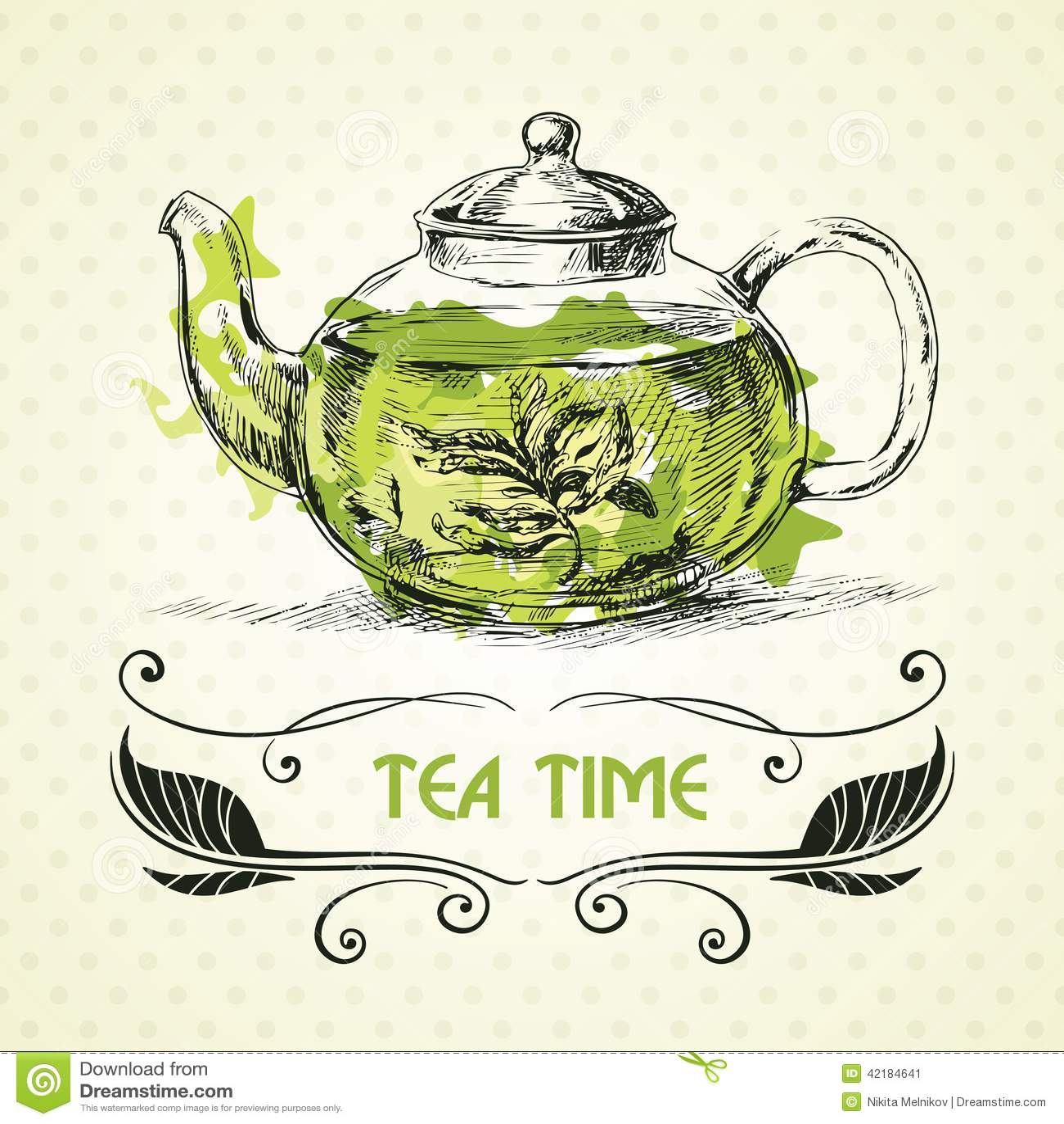 Чай чайника зеленый